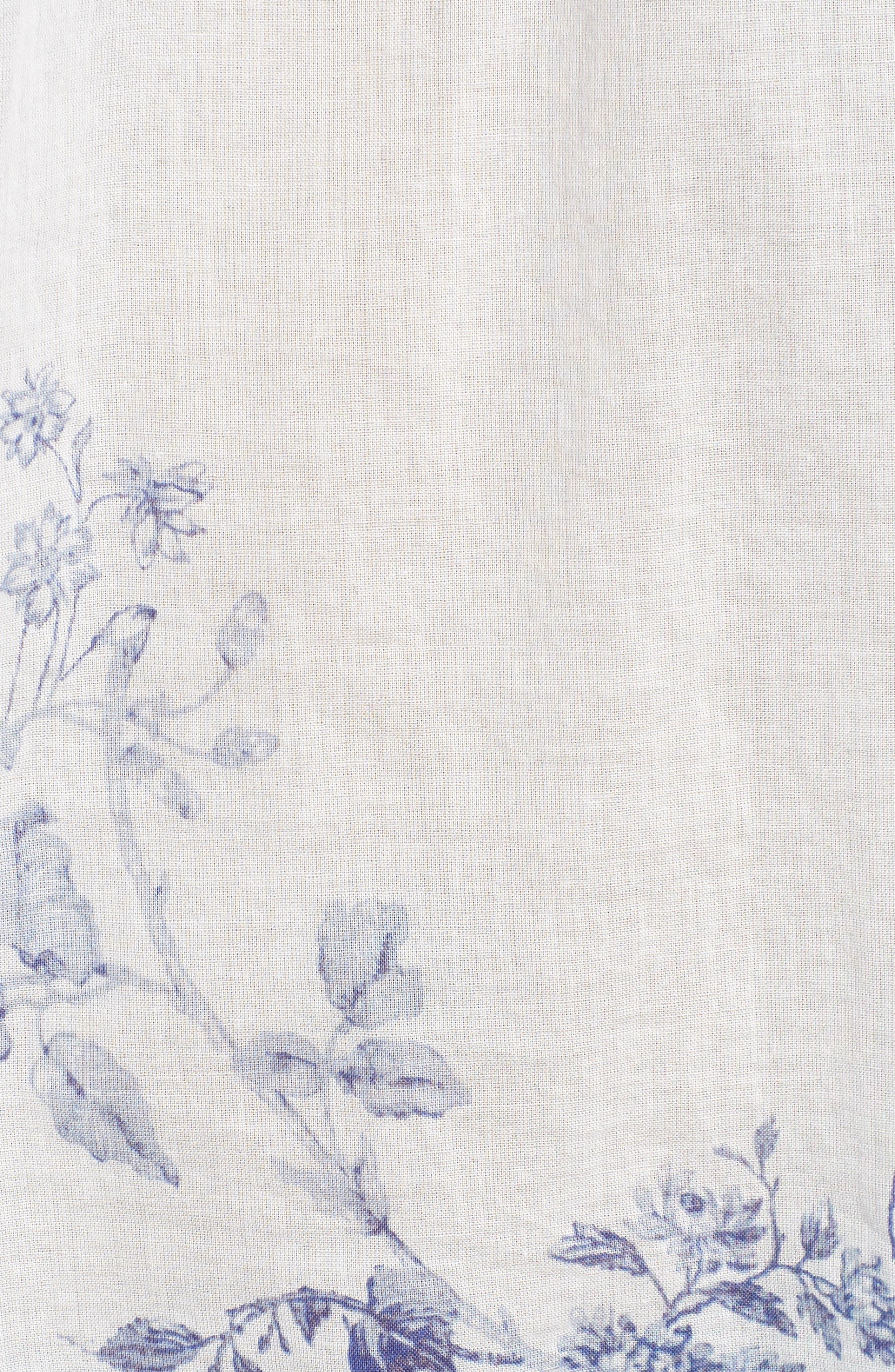 Flounce Sleeve Lace-Up Blouse,                             Alternate thumbnail 32, color,