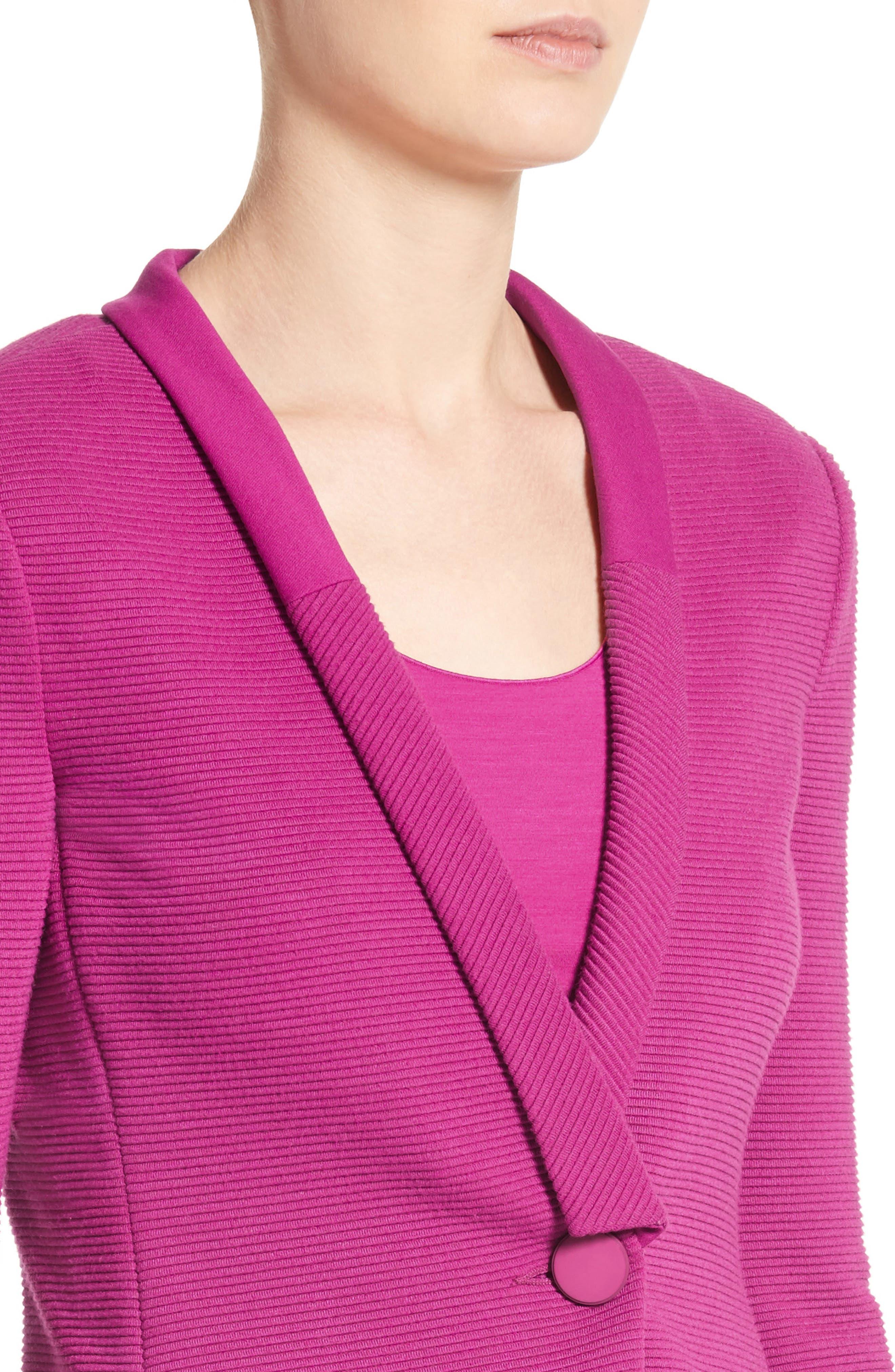 Ottoman Jersey One Button Jacket,                             Alternate thumbnail 4, color,                             696