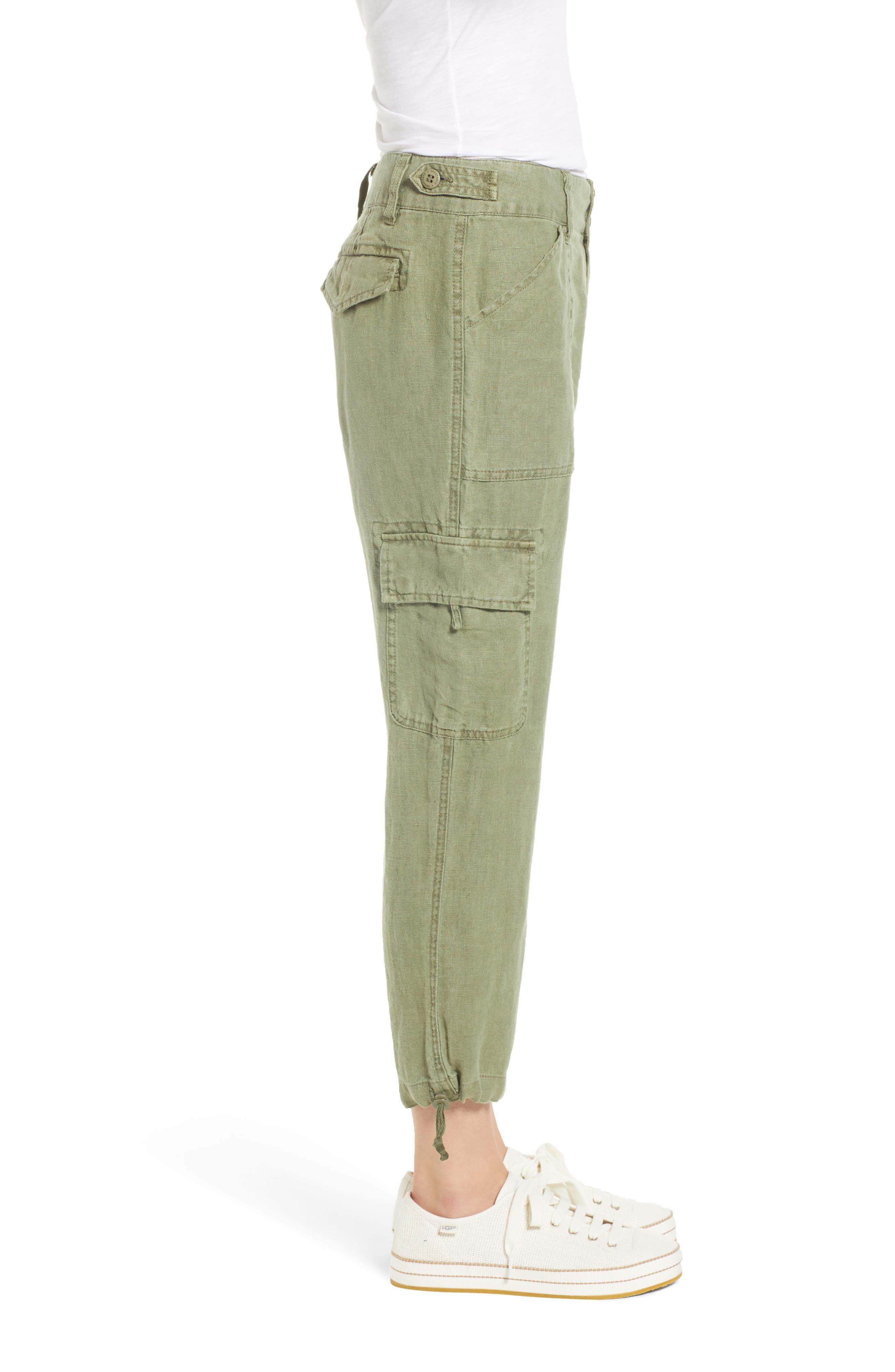 Terrain Linen Crop Cargo Pants,                             Alternate thumbnail 24, color,