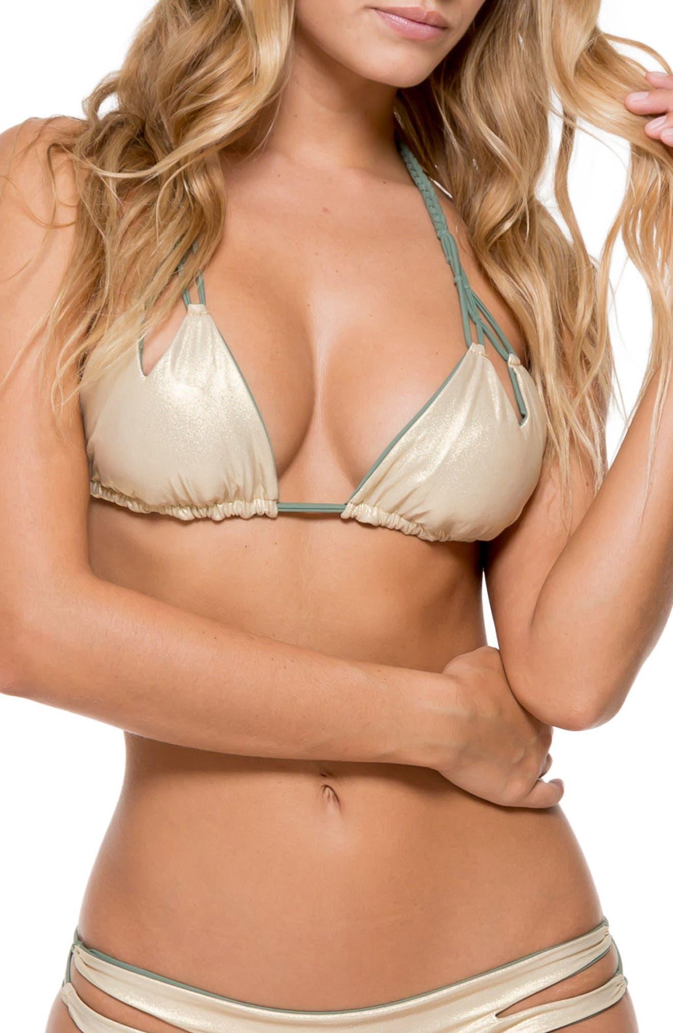 Reversible Triangle Bikini Top,                             Alternate thumbnail 10, color,