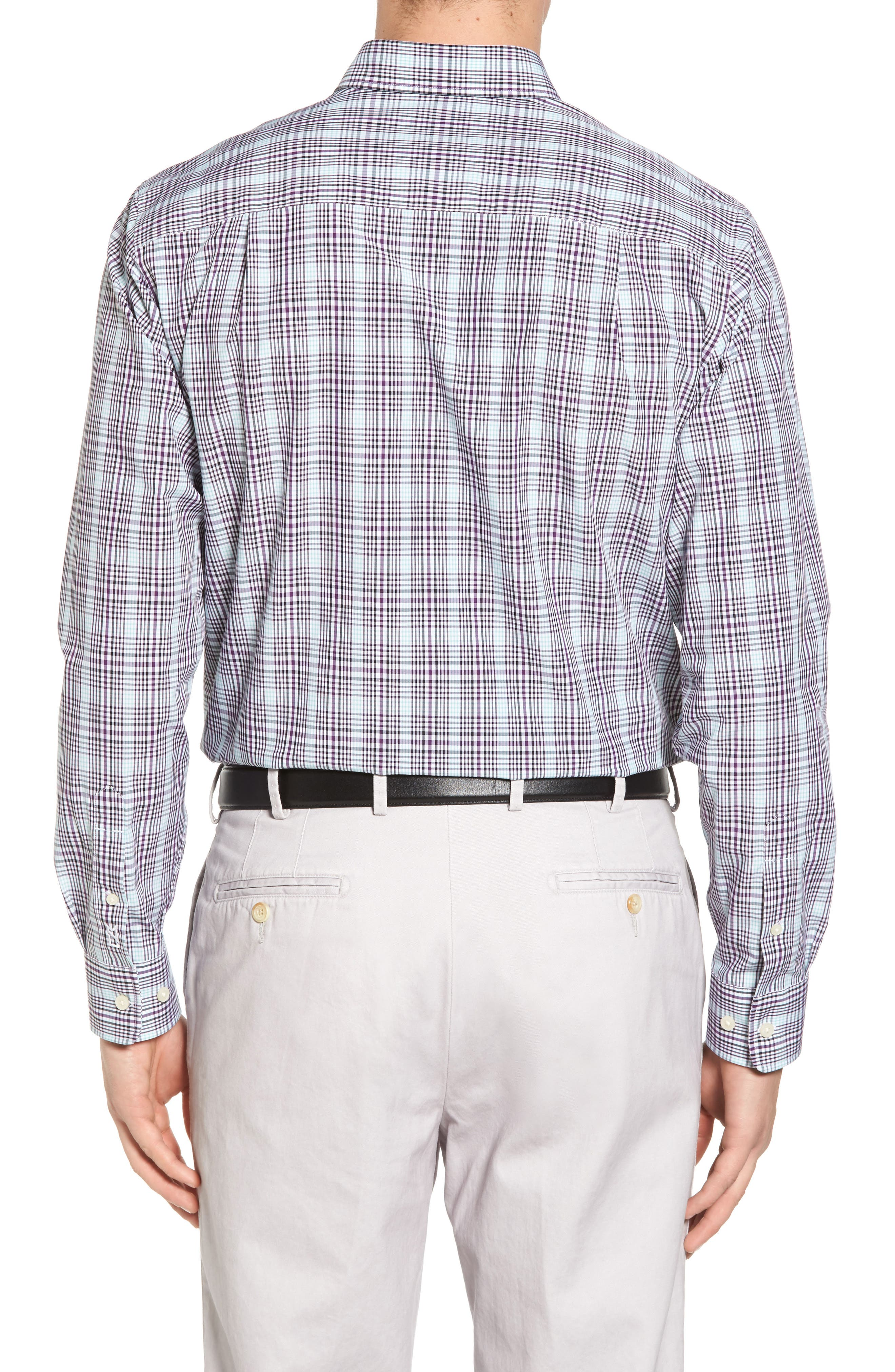 Hoyt Plaid Non-Iron Sport Shirt,                             Alternate thumbnail 2, color,