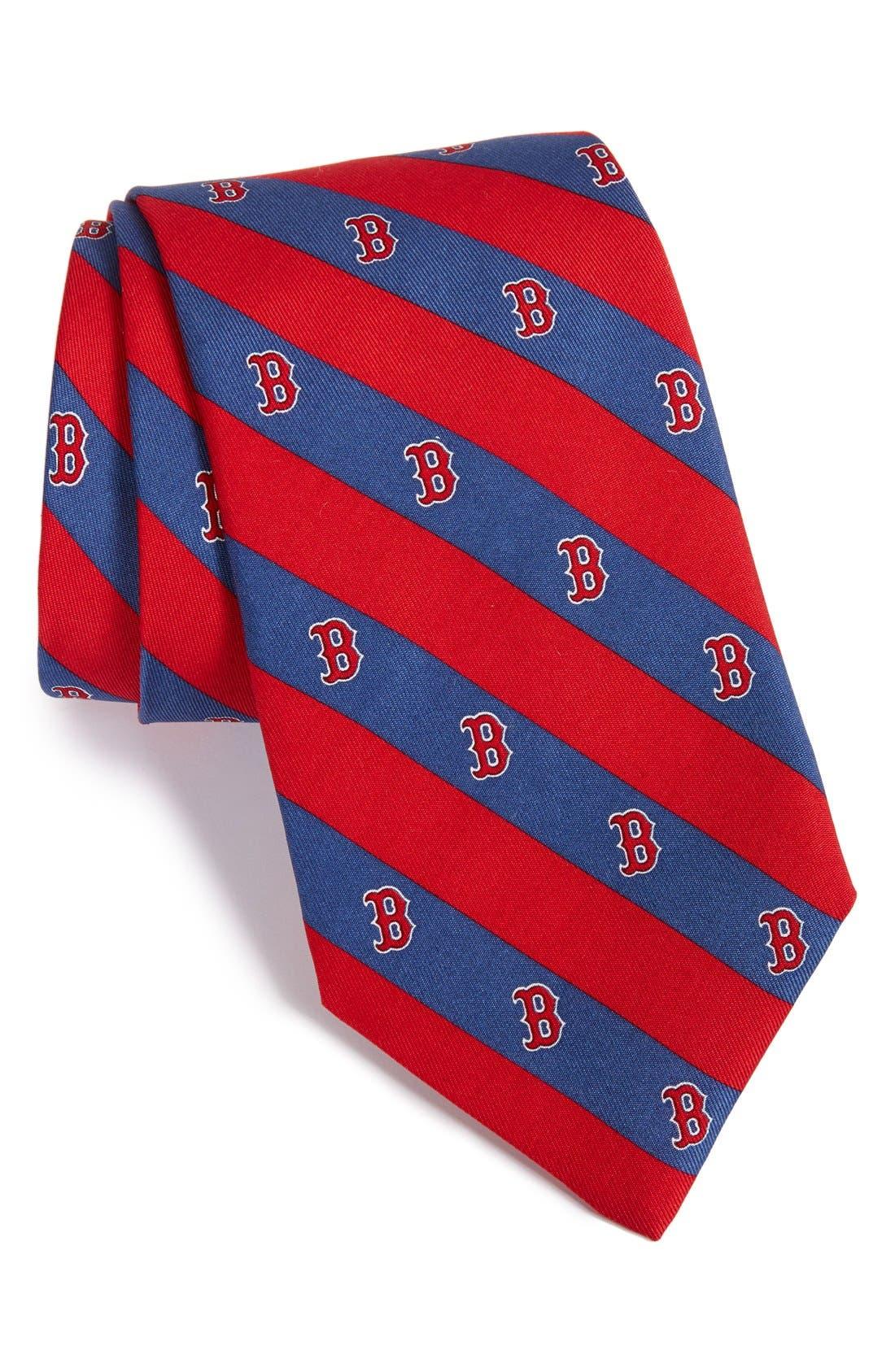Boston Red Sox - MLB Print Silk Tie,                             Main thumbnail 1, color,                             414