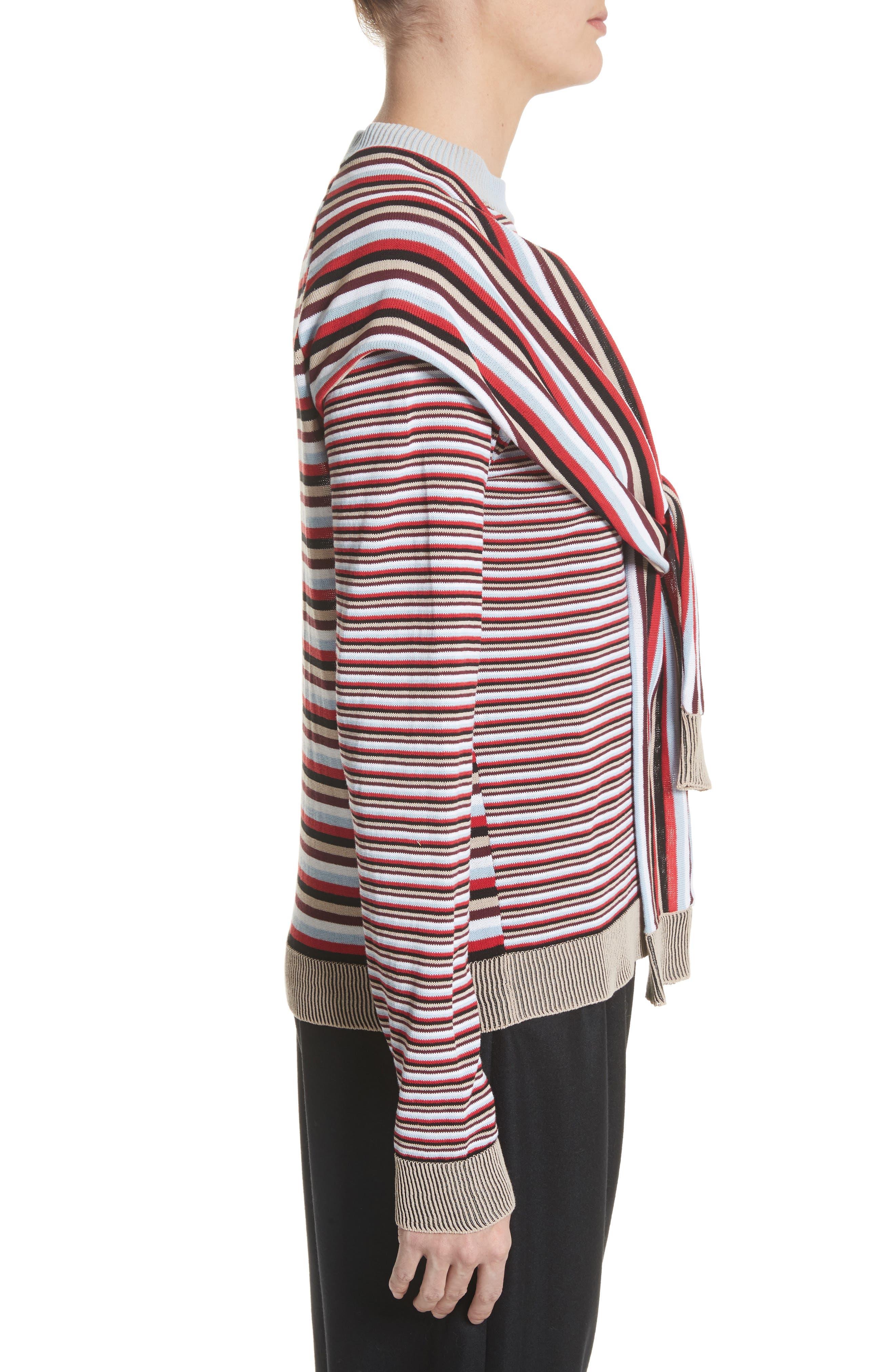 Trompe L'Oeil Sweater,                             Alternate thumbnail 3, color,