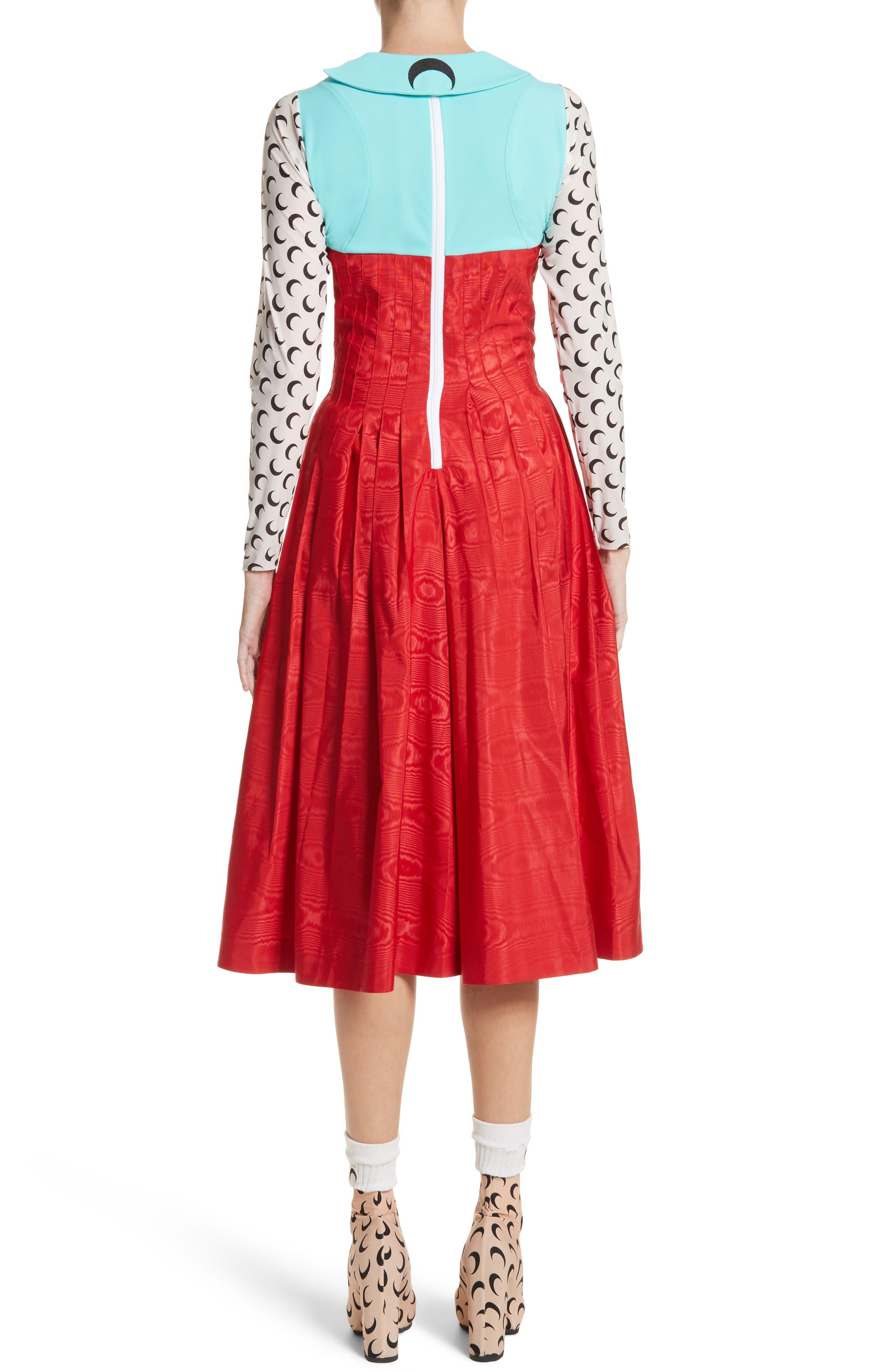 Hybrid Moiré Dress,                             Alternate thumbnail 2, color,