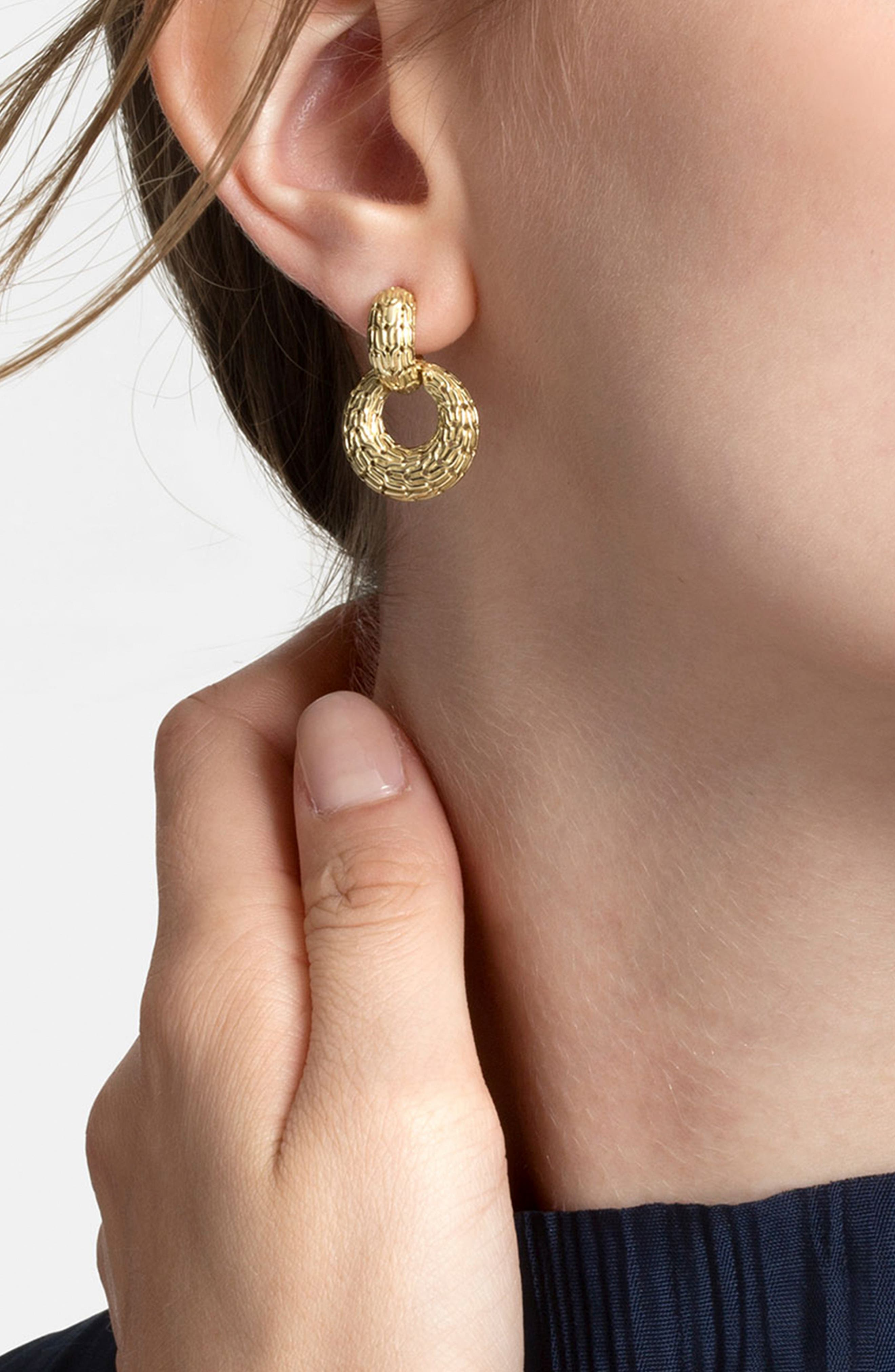 Classic Chain Drop Earrings,                             Alternate thumbnail 2, color,                             GOLD