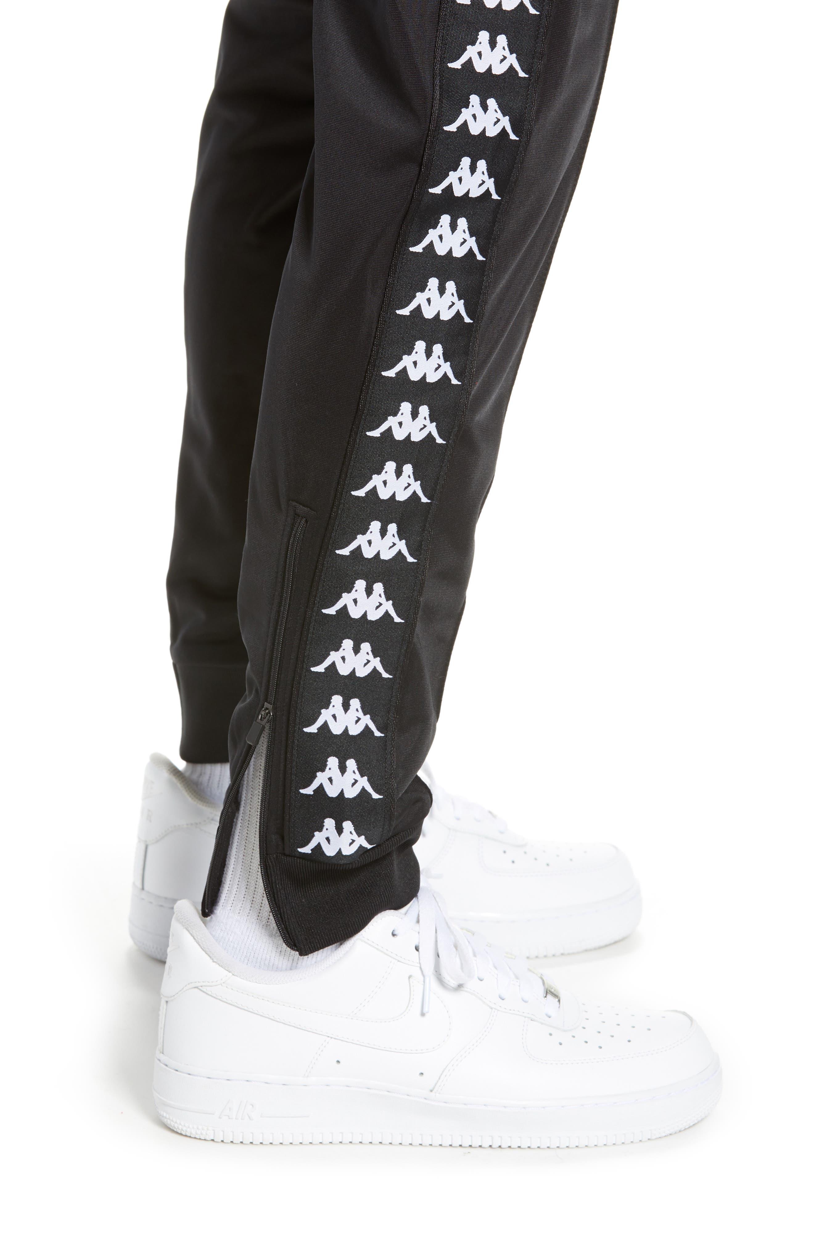 Active Banded Track Pants,                             Alternate thumbnail 4, color,                             BLACK/ BLACK