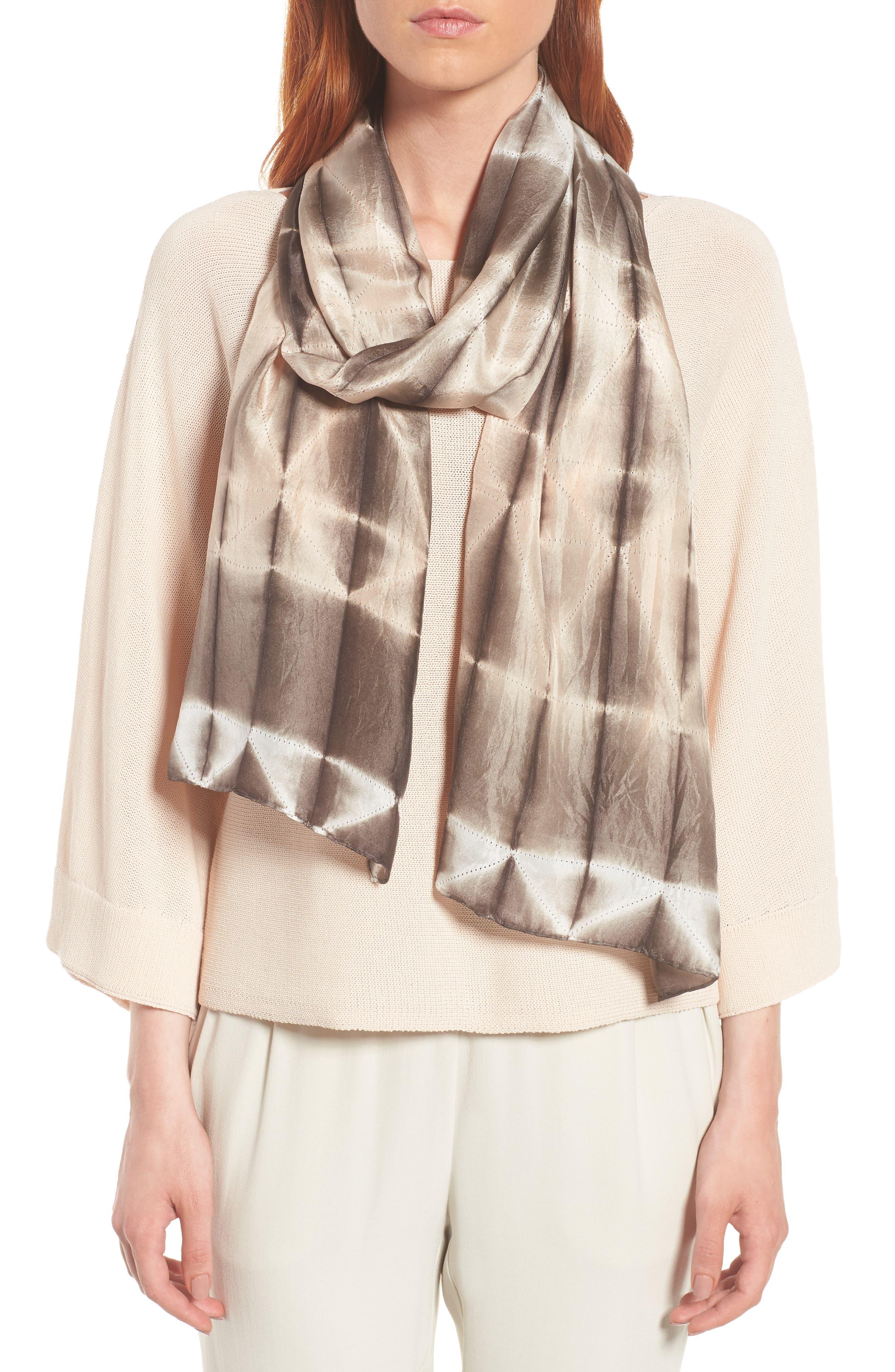 Tie Dye Silk Scarf,                         Main,                         color, 024