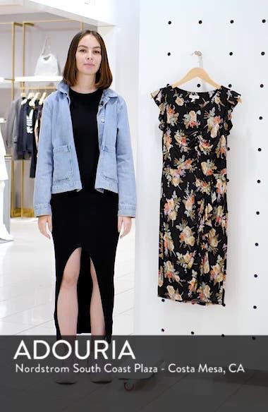 Bouquet Cap Sleeve Ruched Dress, sales video thumbnail