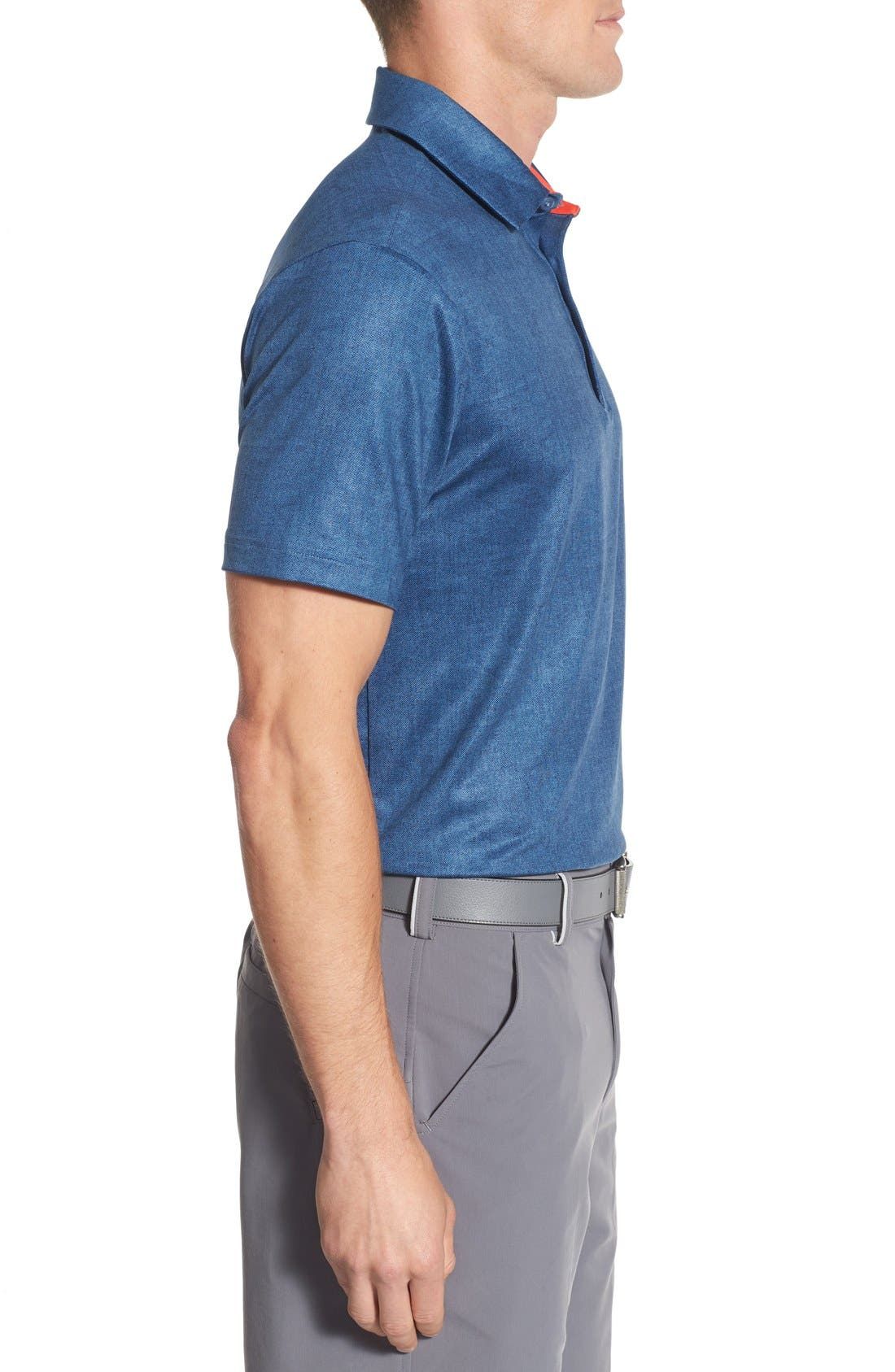 'Playoff' Loose Fit Short Sleeve Polo,                             Alternate thumbnail 274, color,