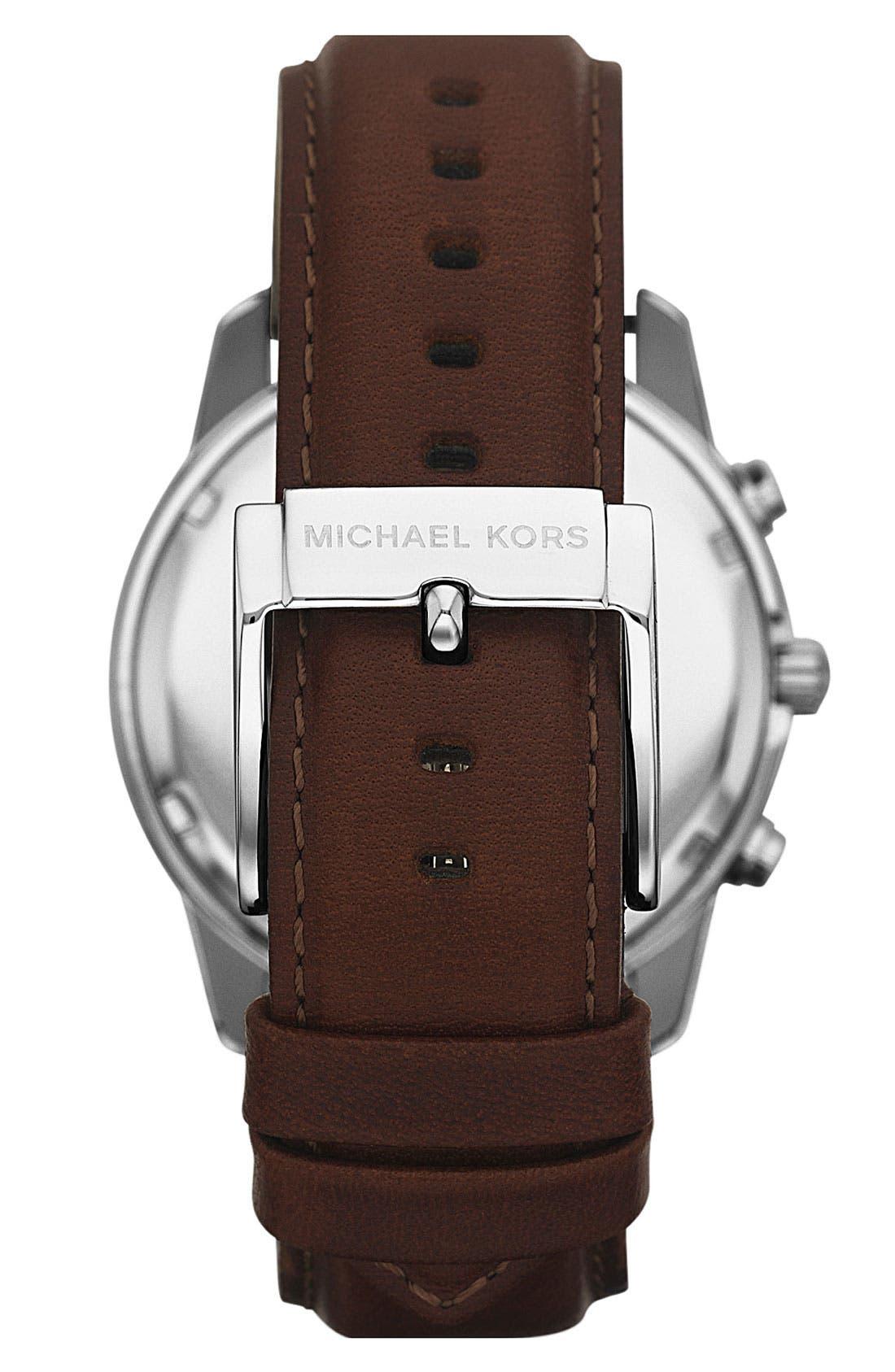 Michael Kors Chronograph Leather Strap Watch, 41mm,                             Alternate thumbnail 15, color,