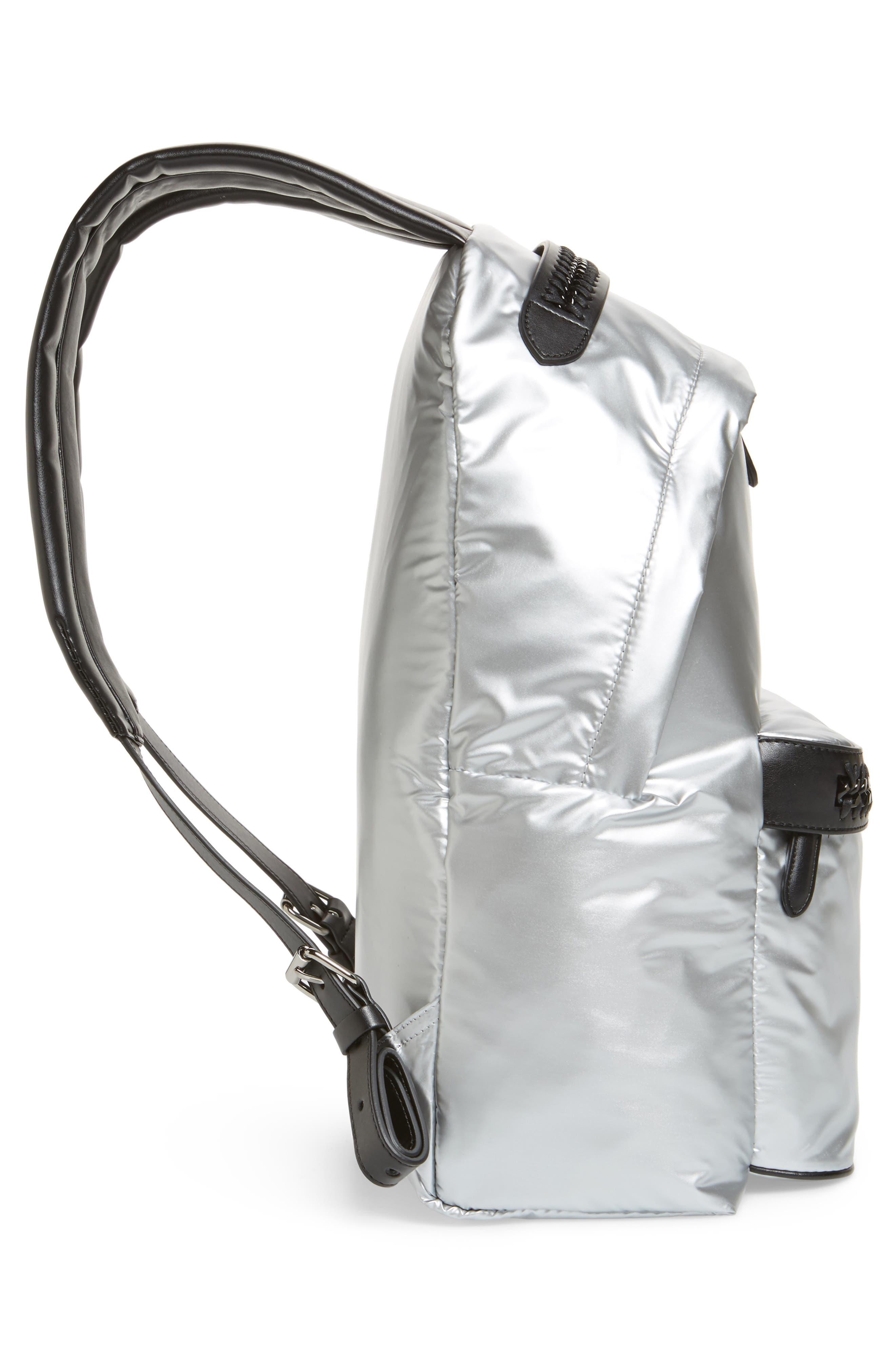 Falabella Metallic Nylon Backpack,                             Alternate thumbnail 5, color,                             045
