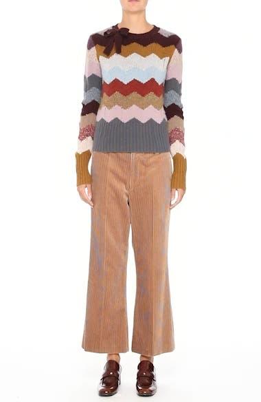 Corduroy Wide Leg Crop Pants, video thumbnail