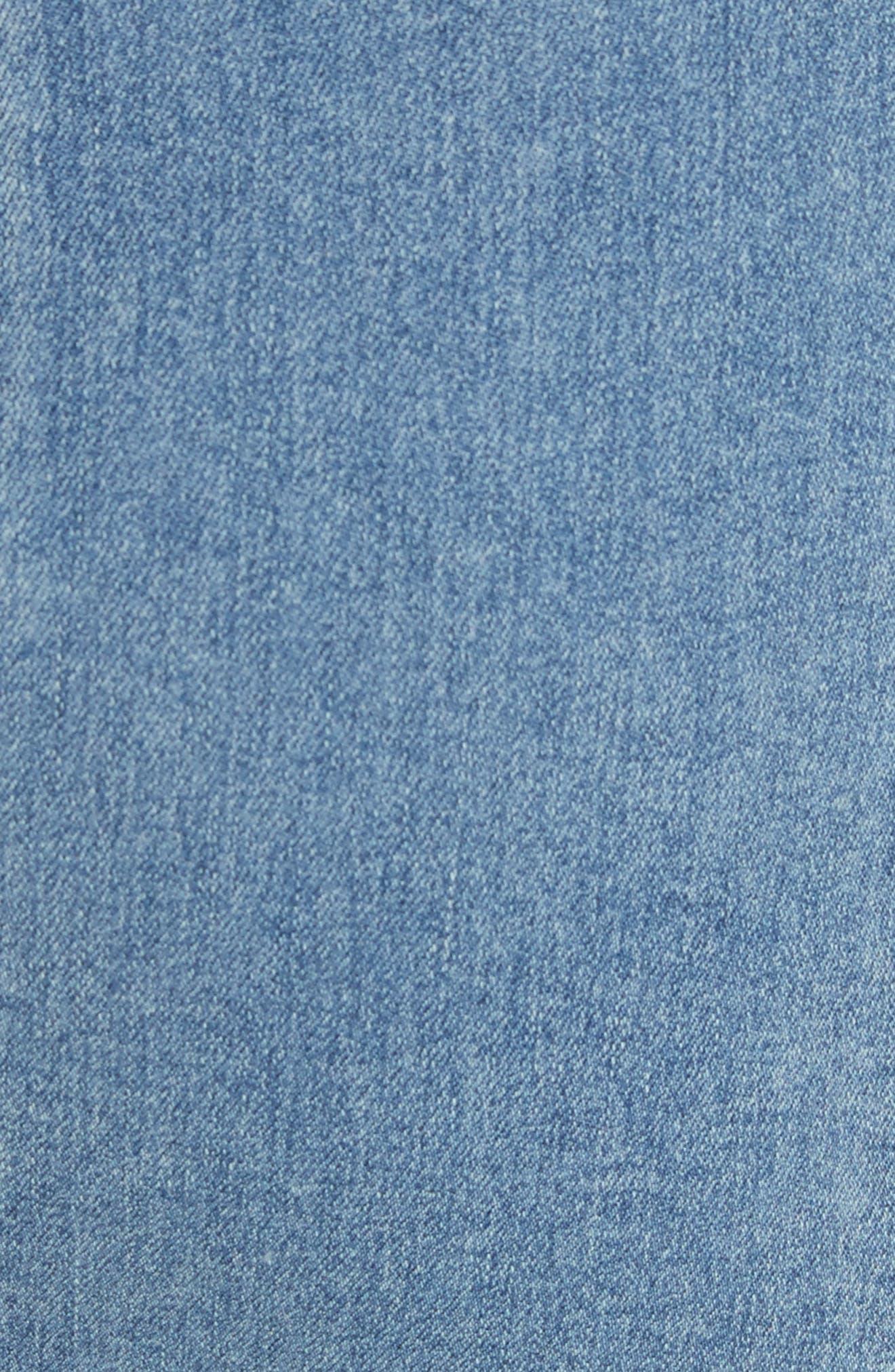 We the Free by Free People Modern Denim Miniskirt,                             Alternate thumbnail 6, color,                             LT BLUE