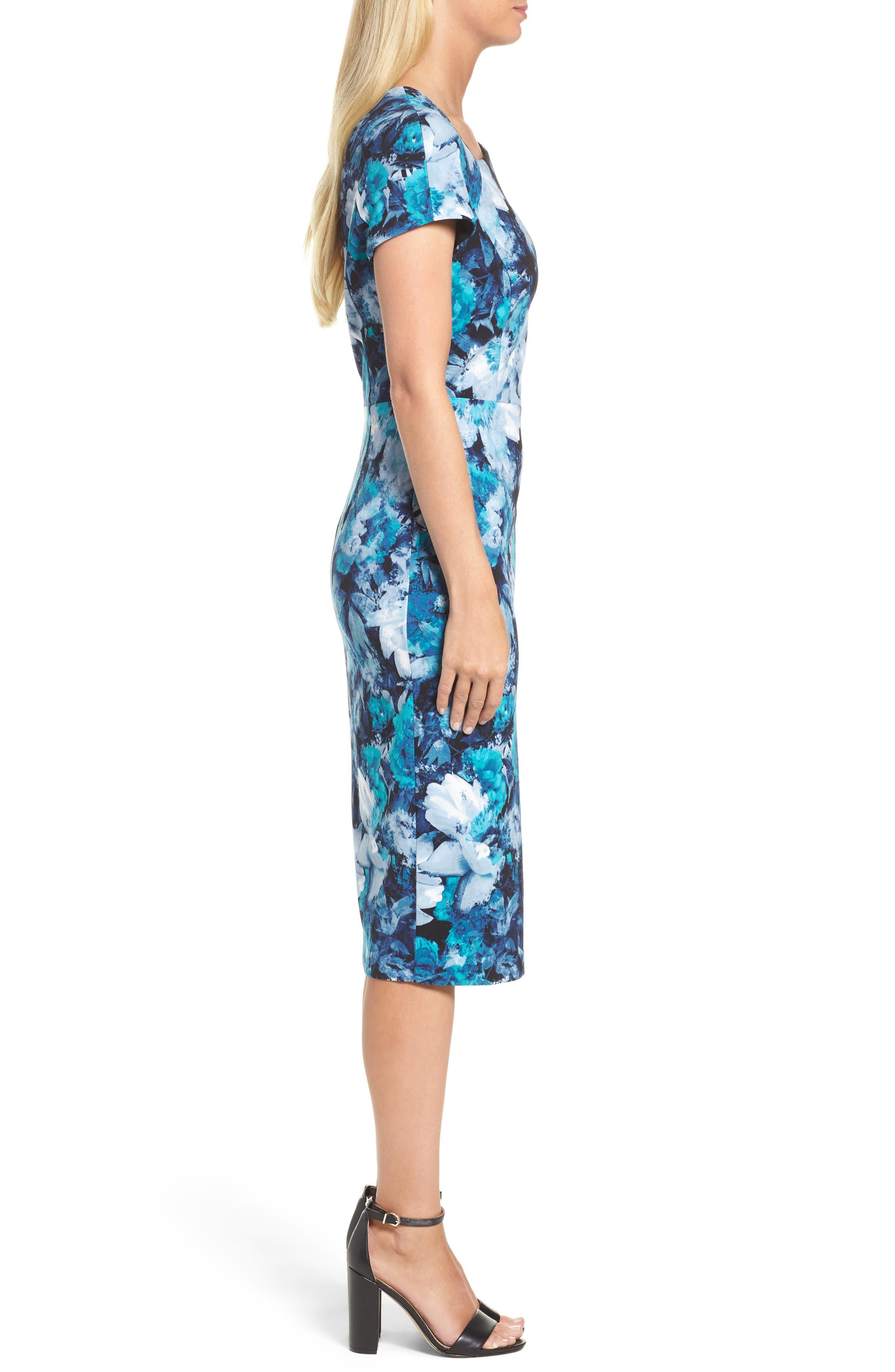 Asymmetrical Sheath Dress,                             Alternate thumbnail 3, color,