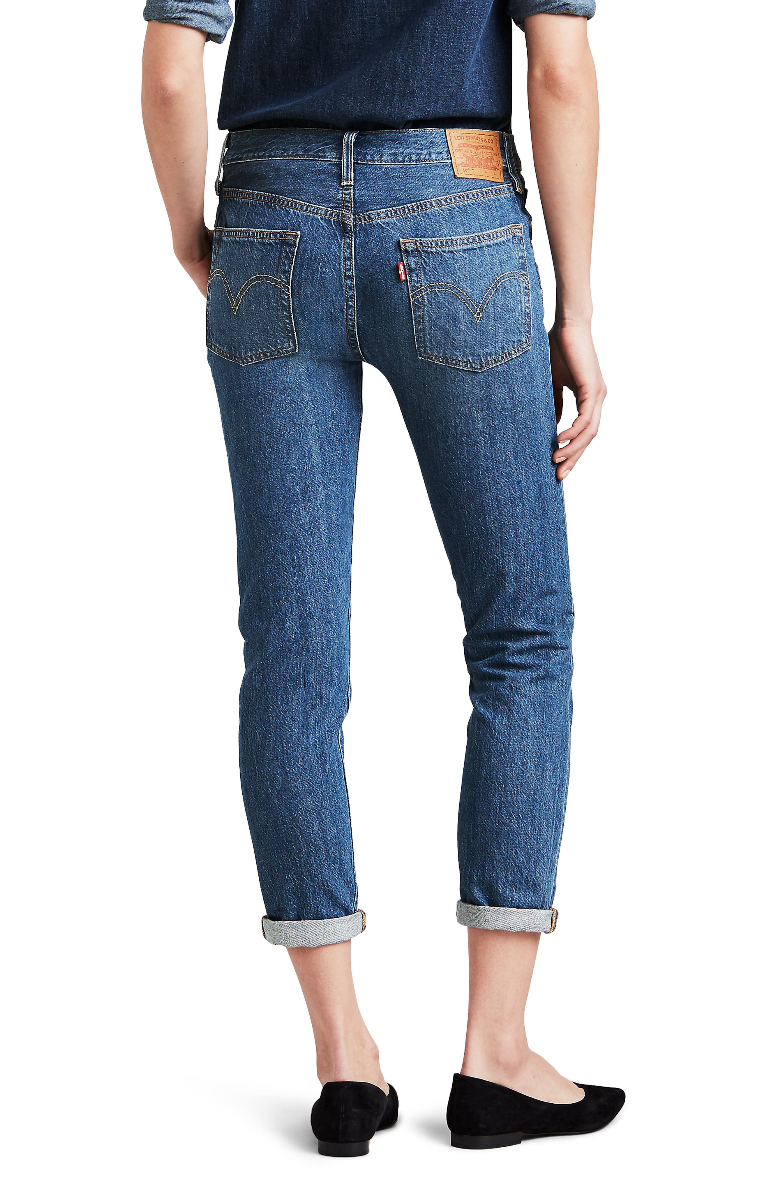 501<sup>®</sup> Ankle Taper Jeans,                             Alternate thumbnail 2, color,                             FOREVER YOUR GIRL
