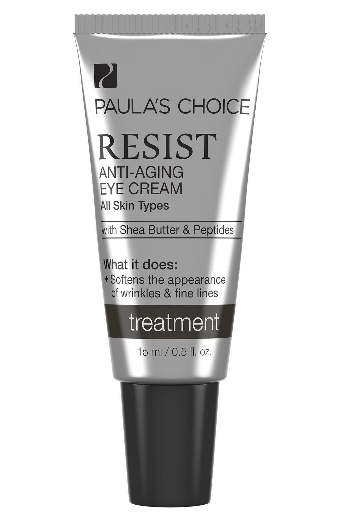 Resist Anti-Aging Eye Cream,                             Main thumbnail 1, color,                             NONE