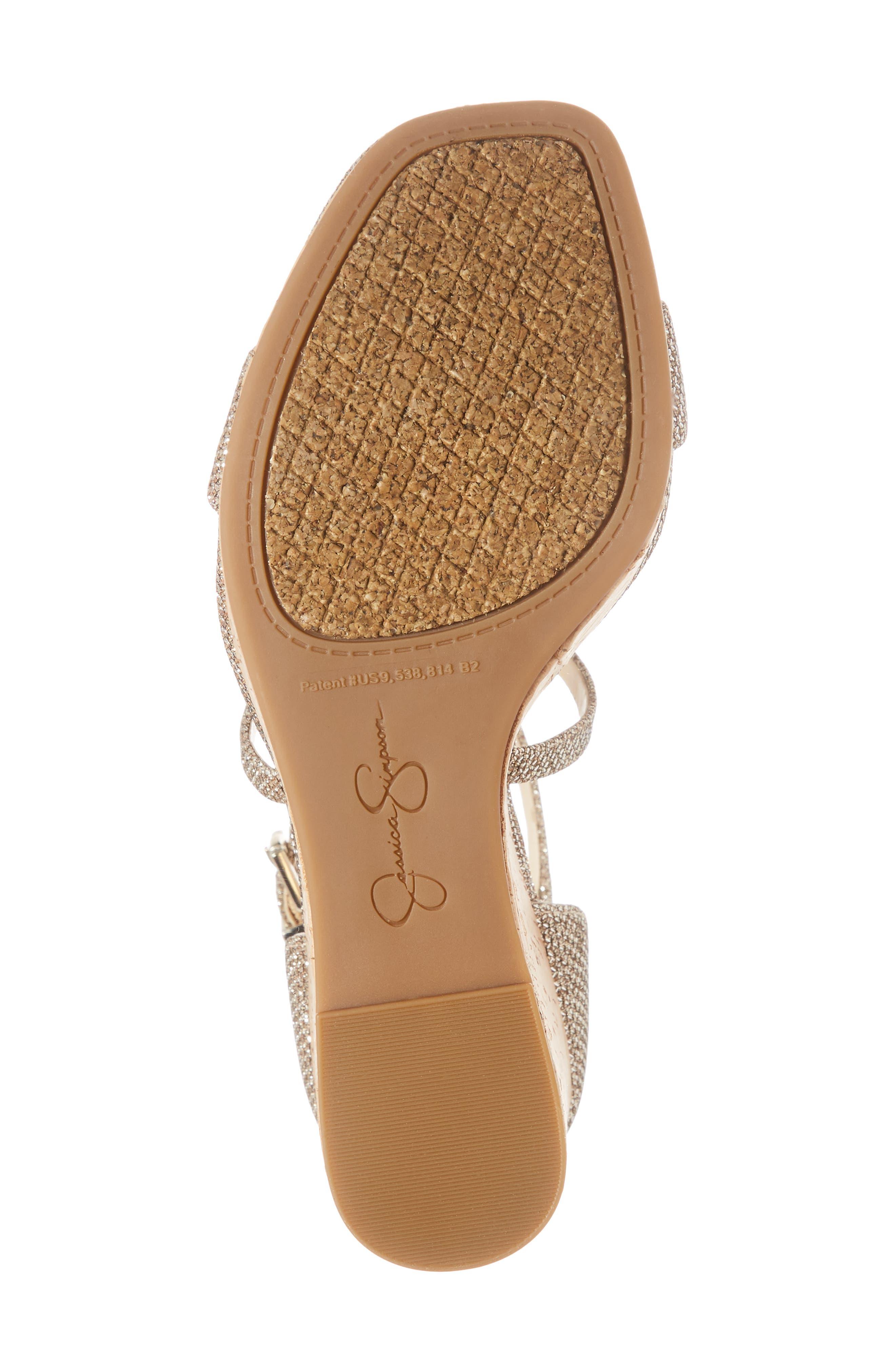 Stassi Cross Strap Wedge Sandal,                             Alternate thumbnail 6, color,                             GOLD