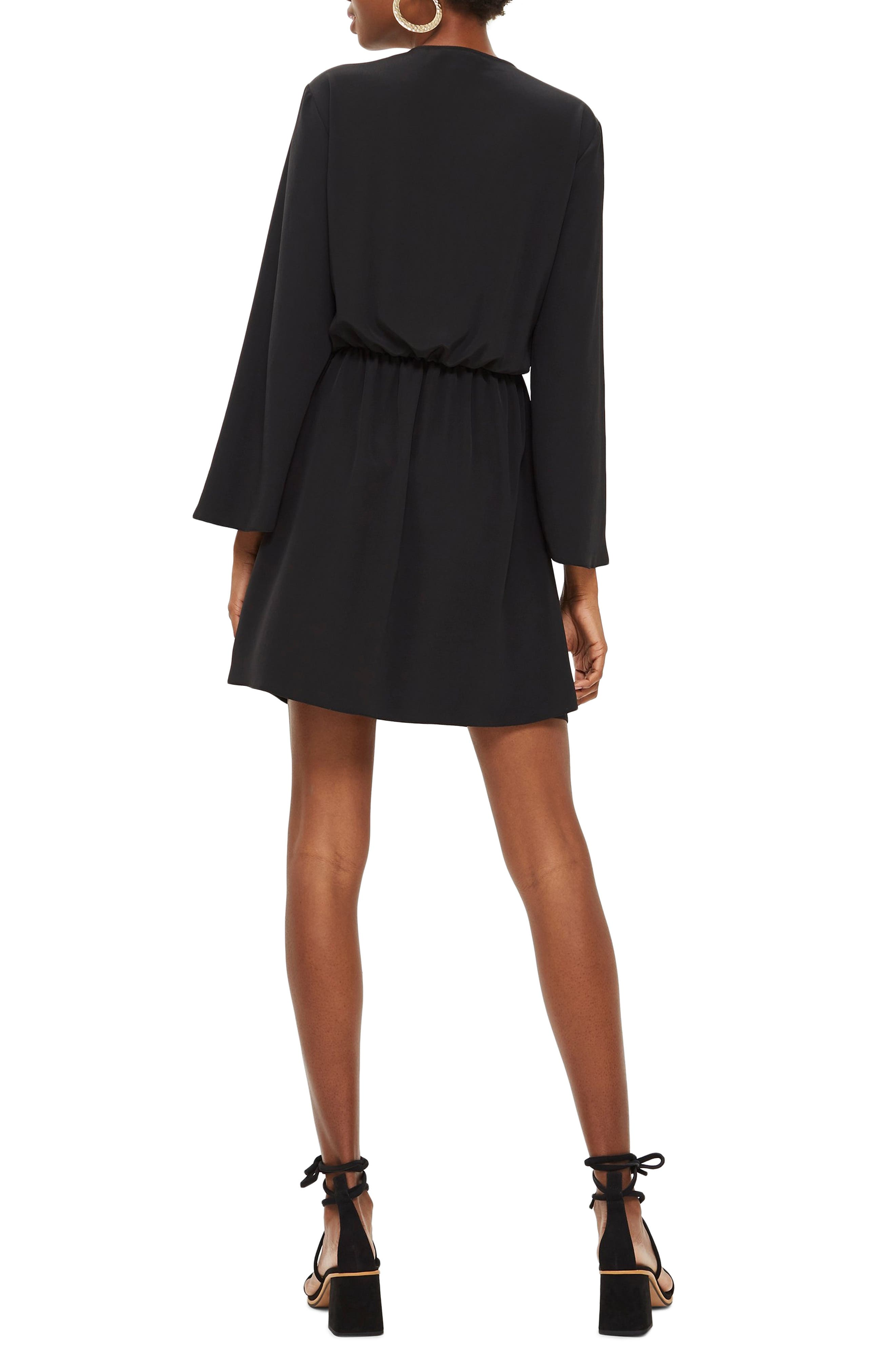 Tiffany Knot Minidress,                             Alternate thumbnail 2, color,                             BLACK