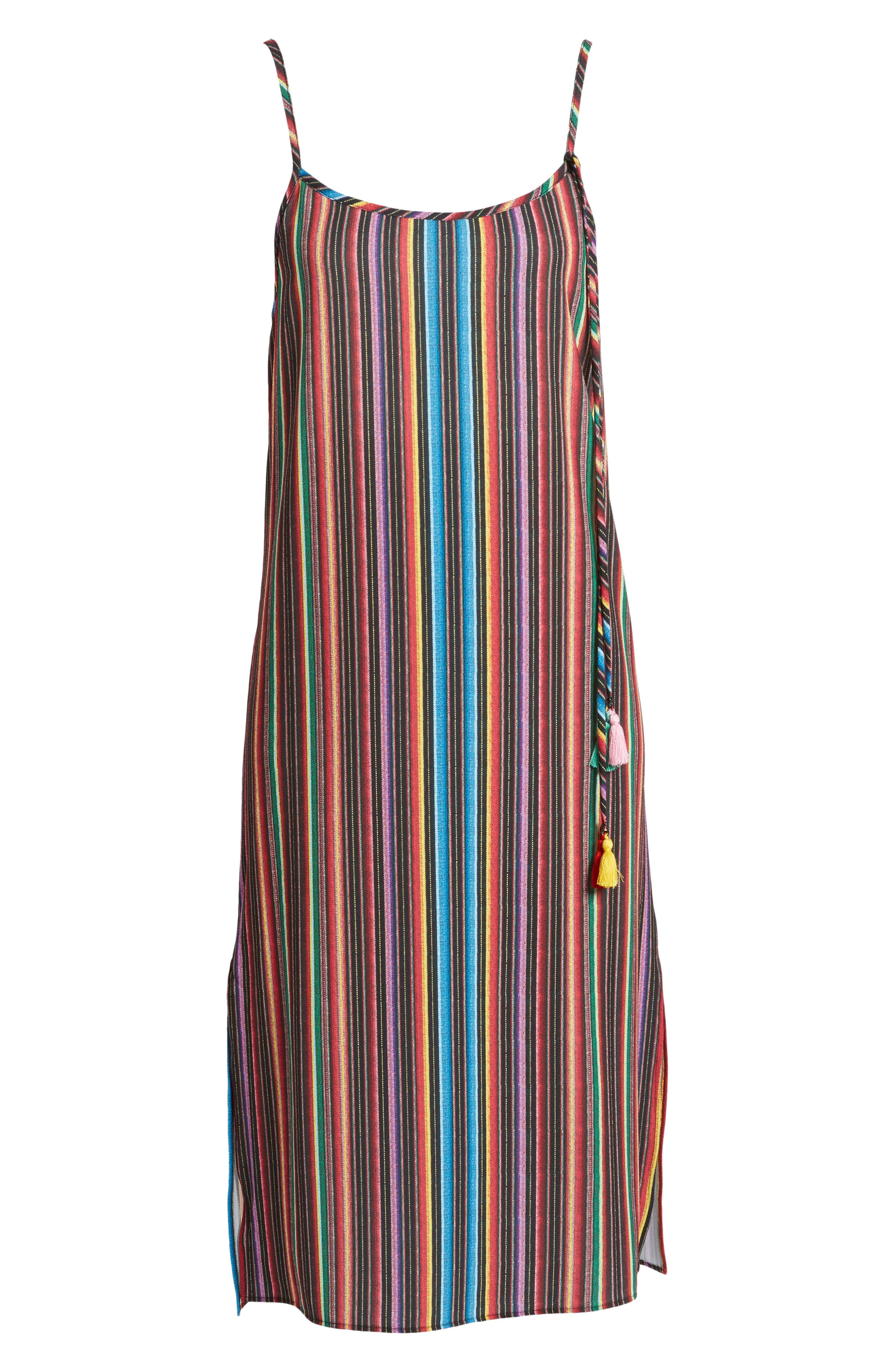 Shiloh Tassel Slipdress,                             Alternate thumbnail 6, color,