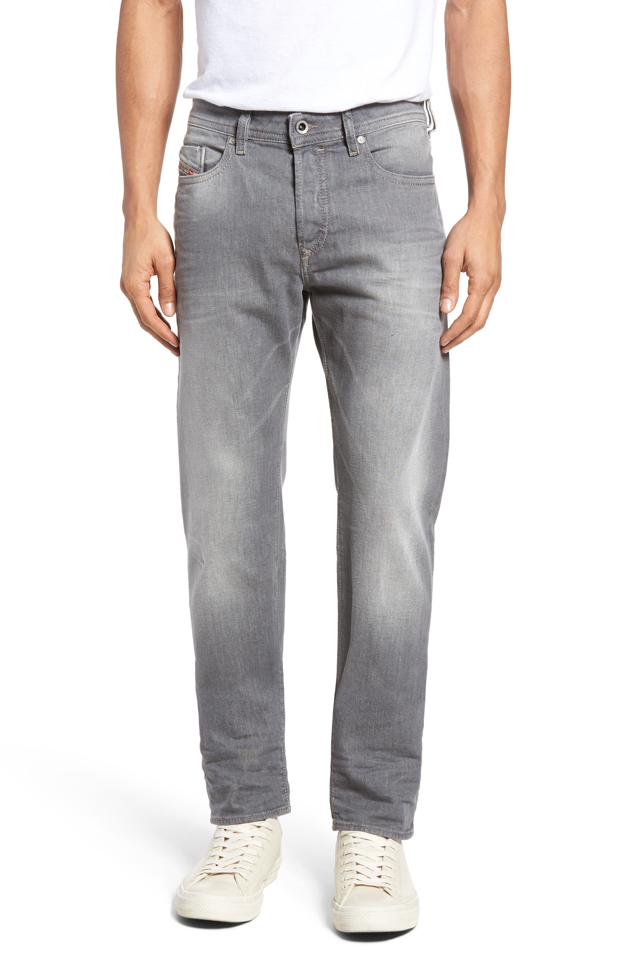 DIESEL Buster Slim Straight Leg Jeans,                             Main thumbnail 1, color,                             400