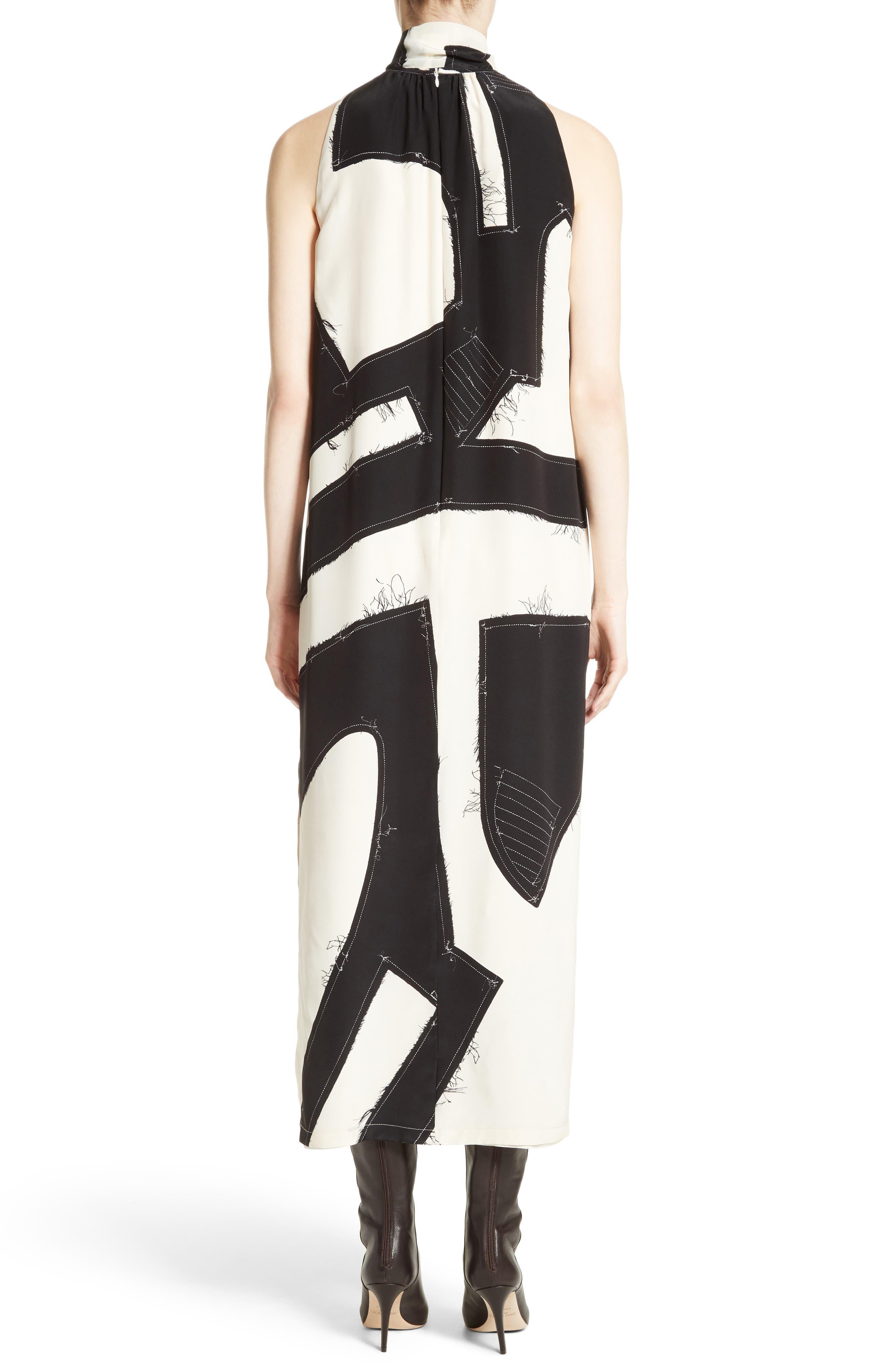 Agiato Print Silk Dress,                             Alternate thumbnail 2, color,