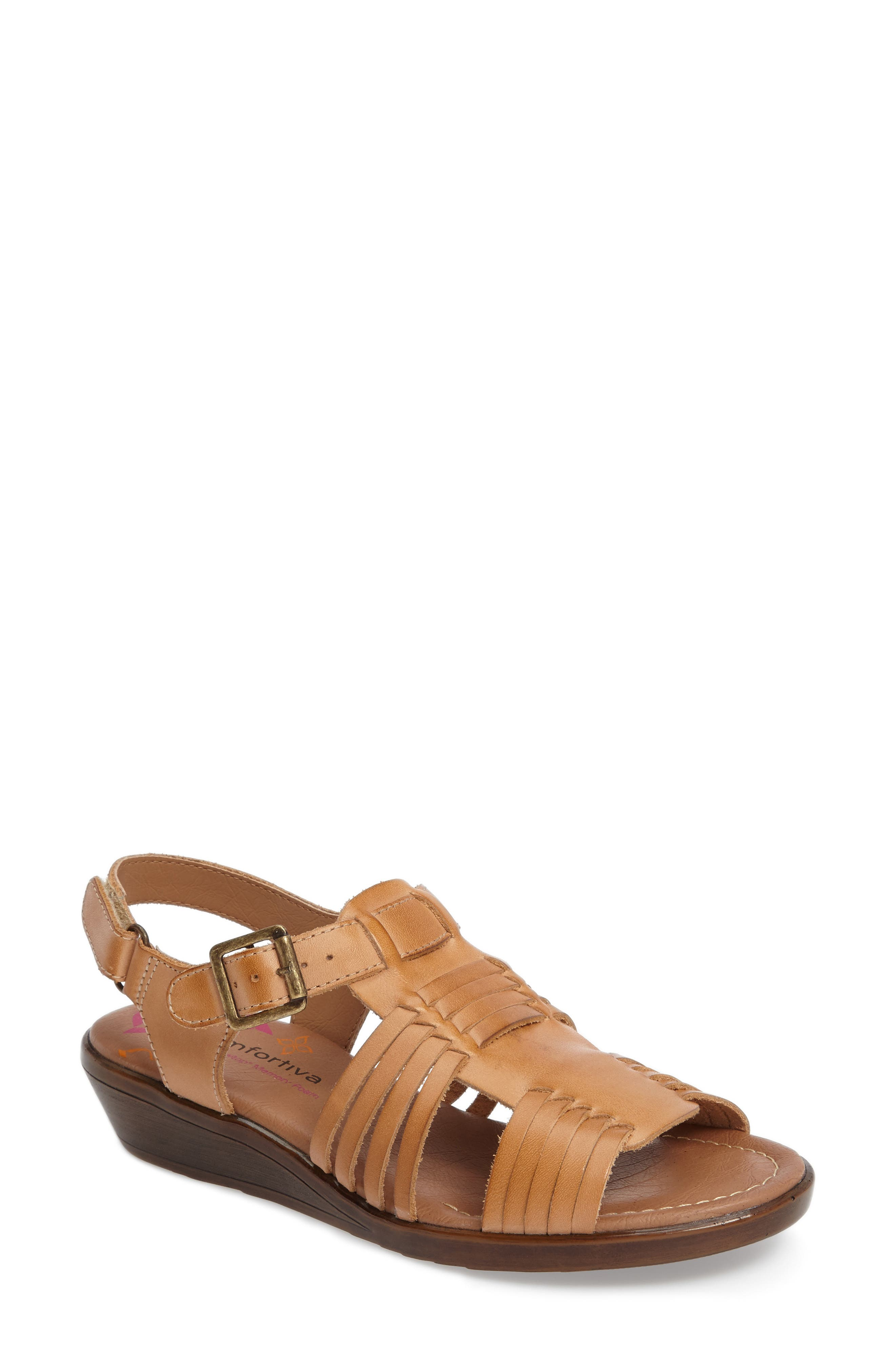 Freeport Sandal,                         Main,                         color, NATURAL LEATHER