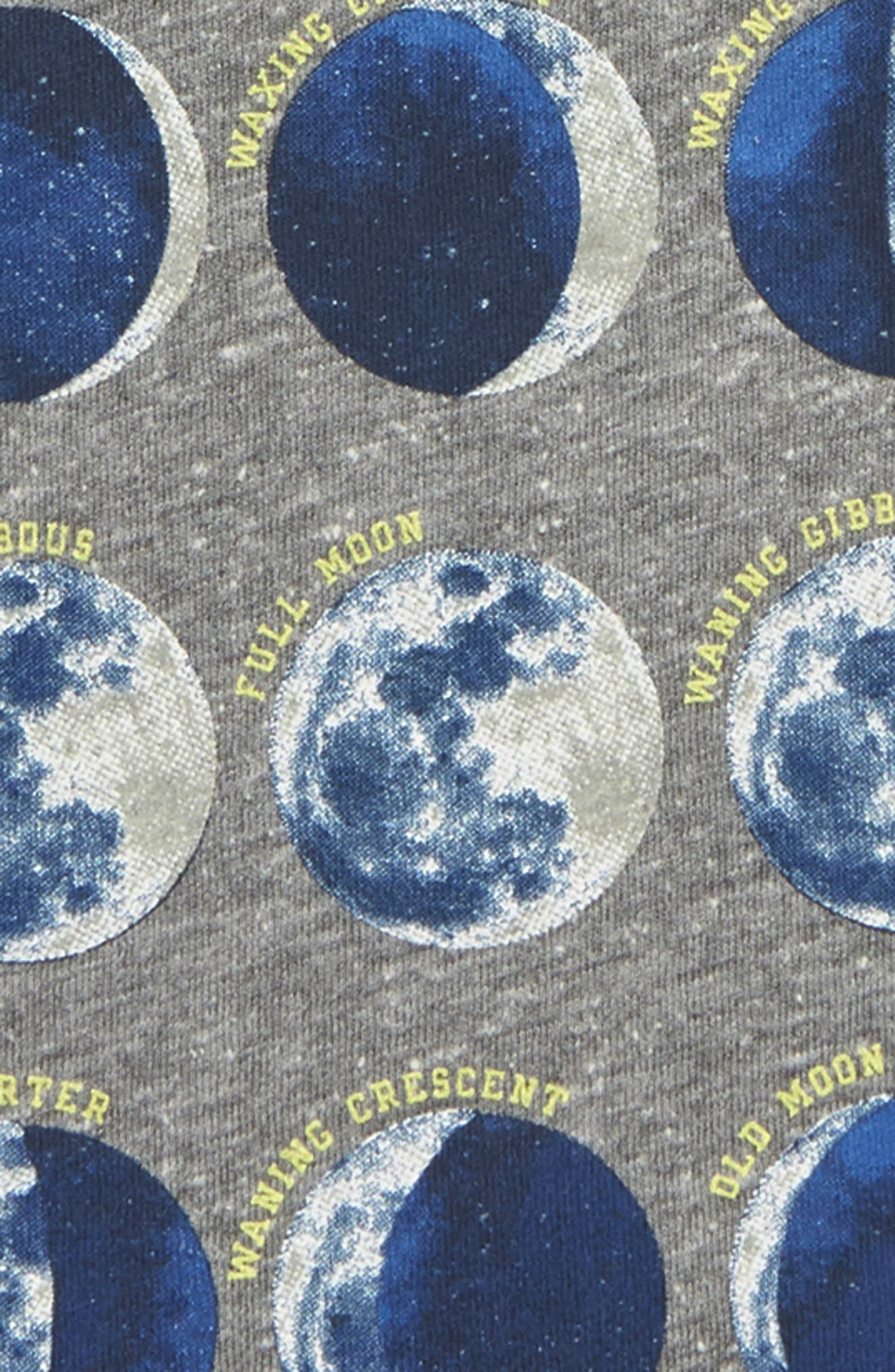 Moon and Back Glow in the Dark Raglan T-Shirt,                             Alternate thumbnail 4, color,                             HEATHER GREY