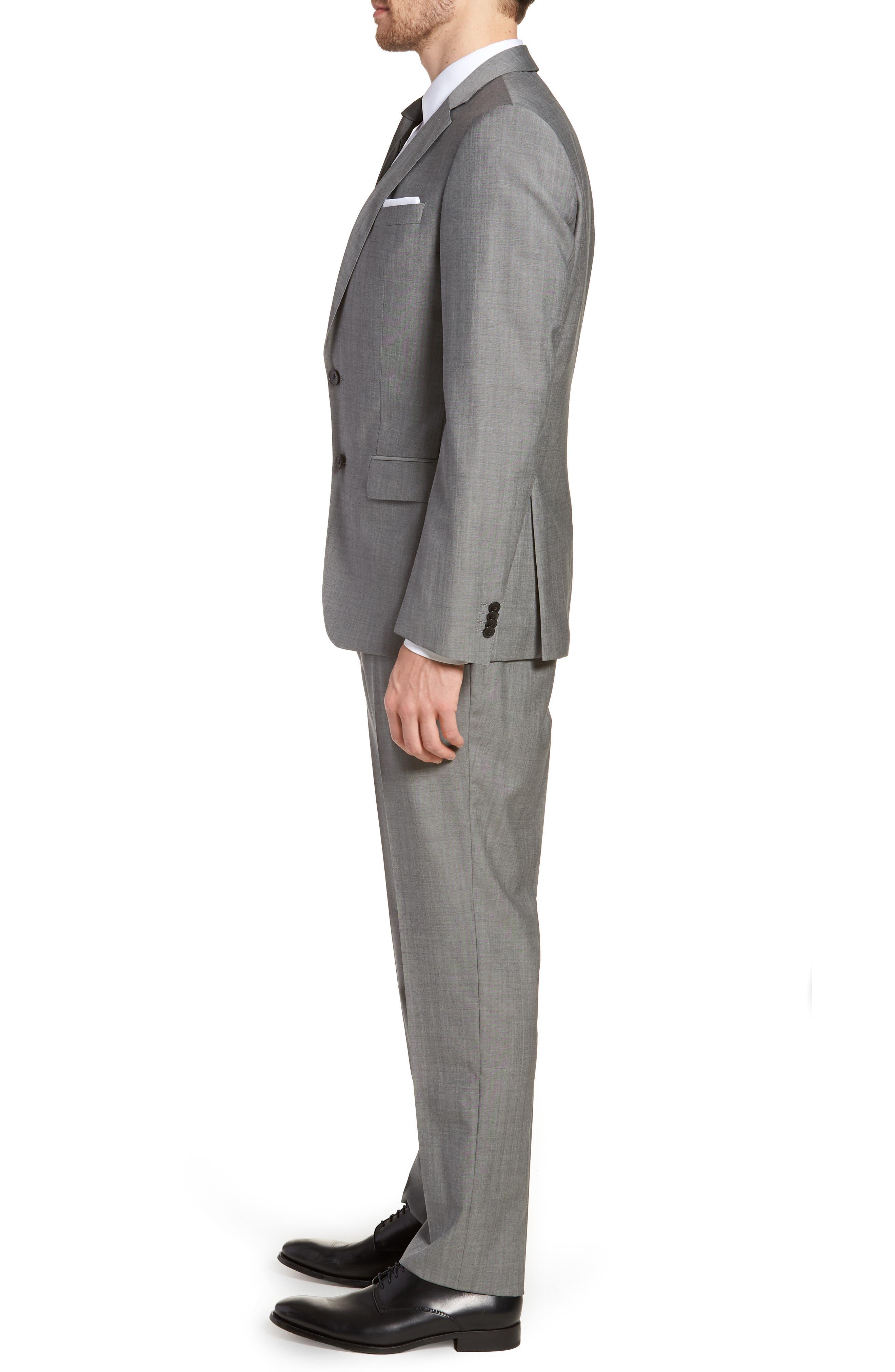 'Huge/Genius' Trim Fit Solid Wool Suit,                             Alternate thumbnail 3, color,                             PEARL GREY
