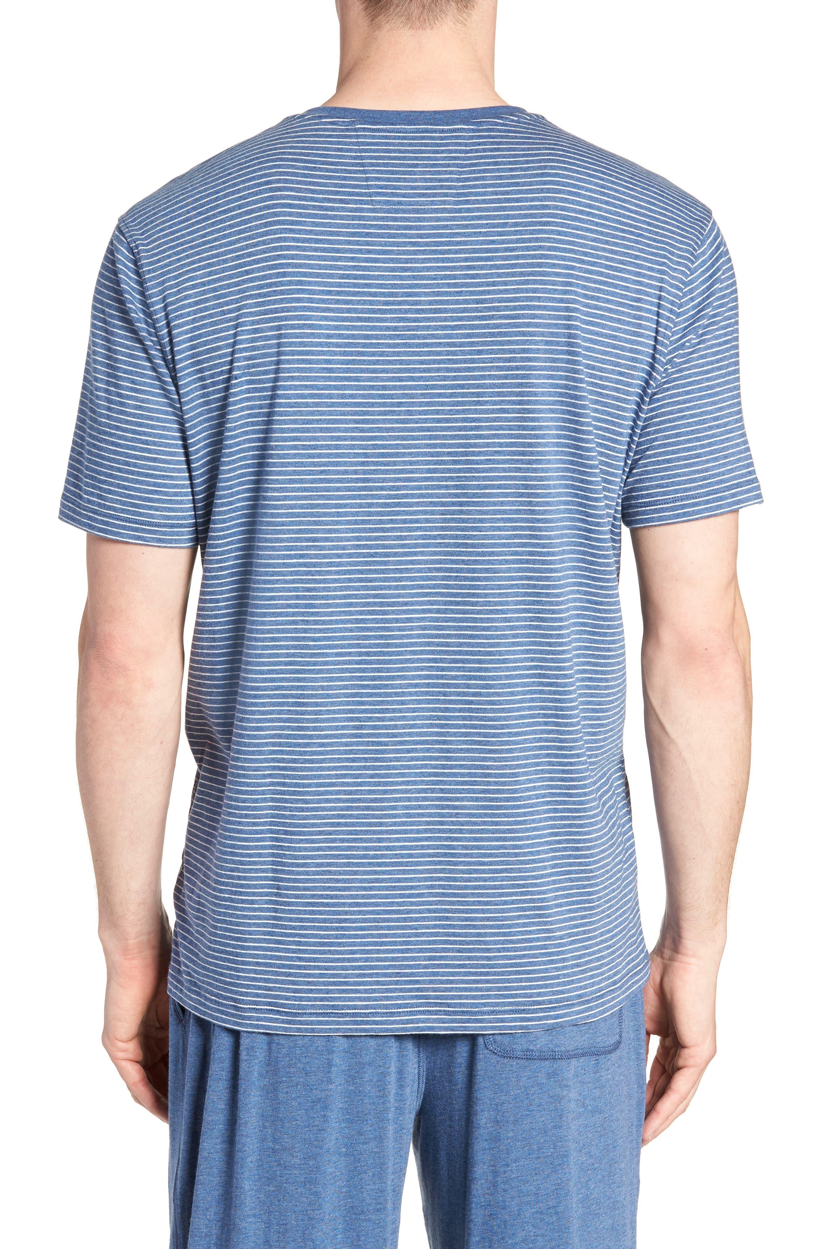 Stripe Pima Cotton & Modal V-Neck T-Shirt,                             Alternate thumbnail 2, color,                             479