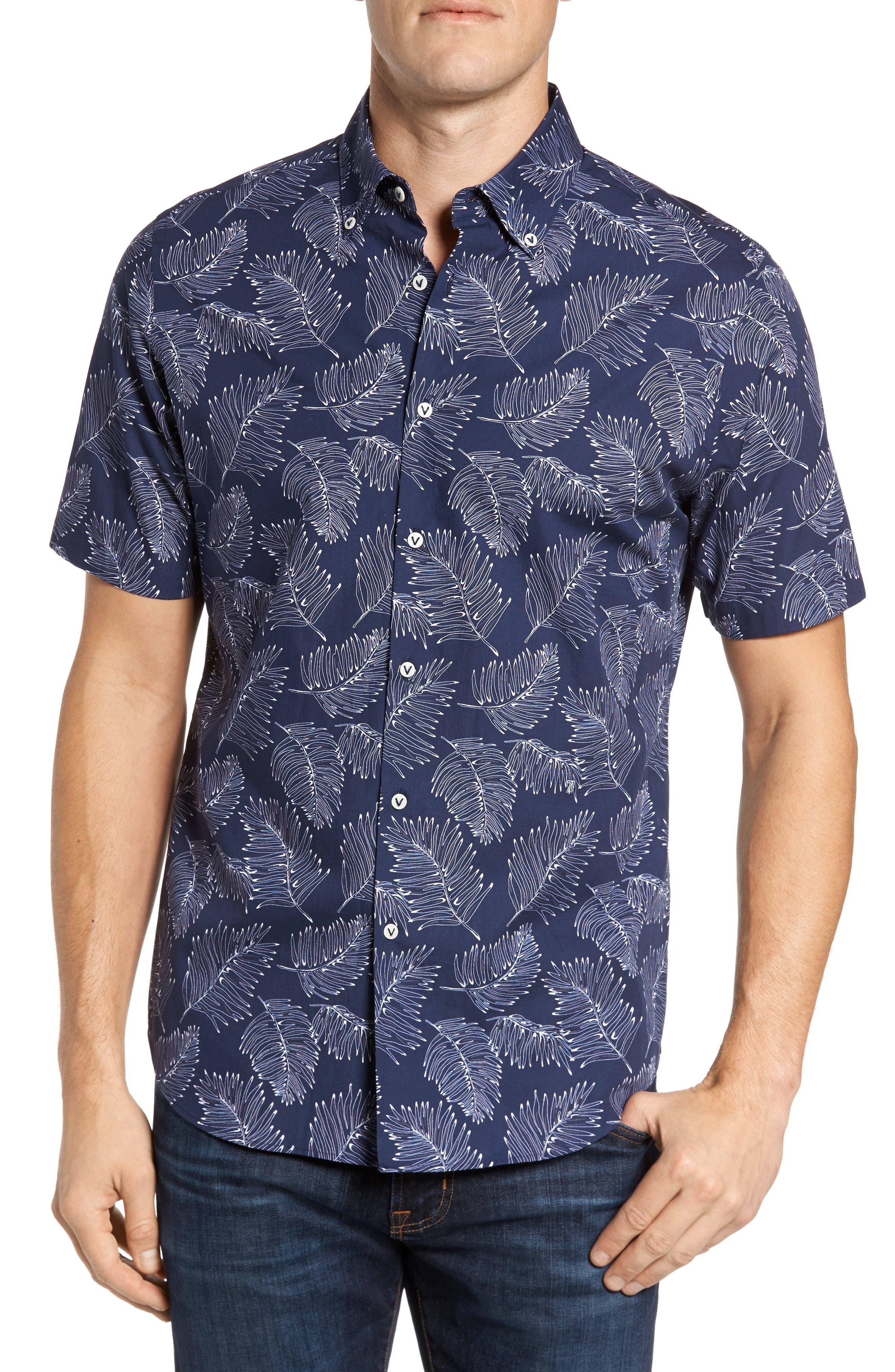 Slim Fit Palm Sport Shirt,                             Main thumbnail 1, color,                             413