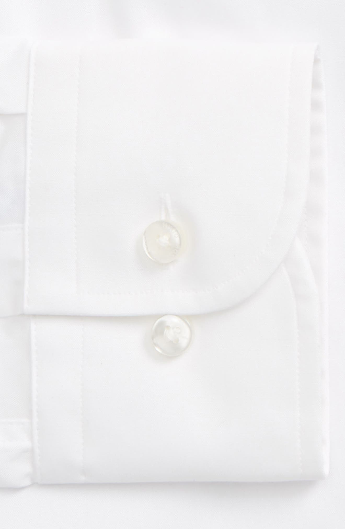 Jerris Slim Fit Easy Iron Solid Dress Shirt,                             Alternate thumbnail 6, color,