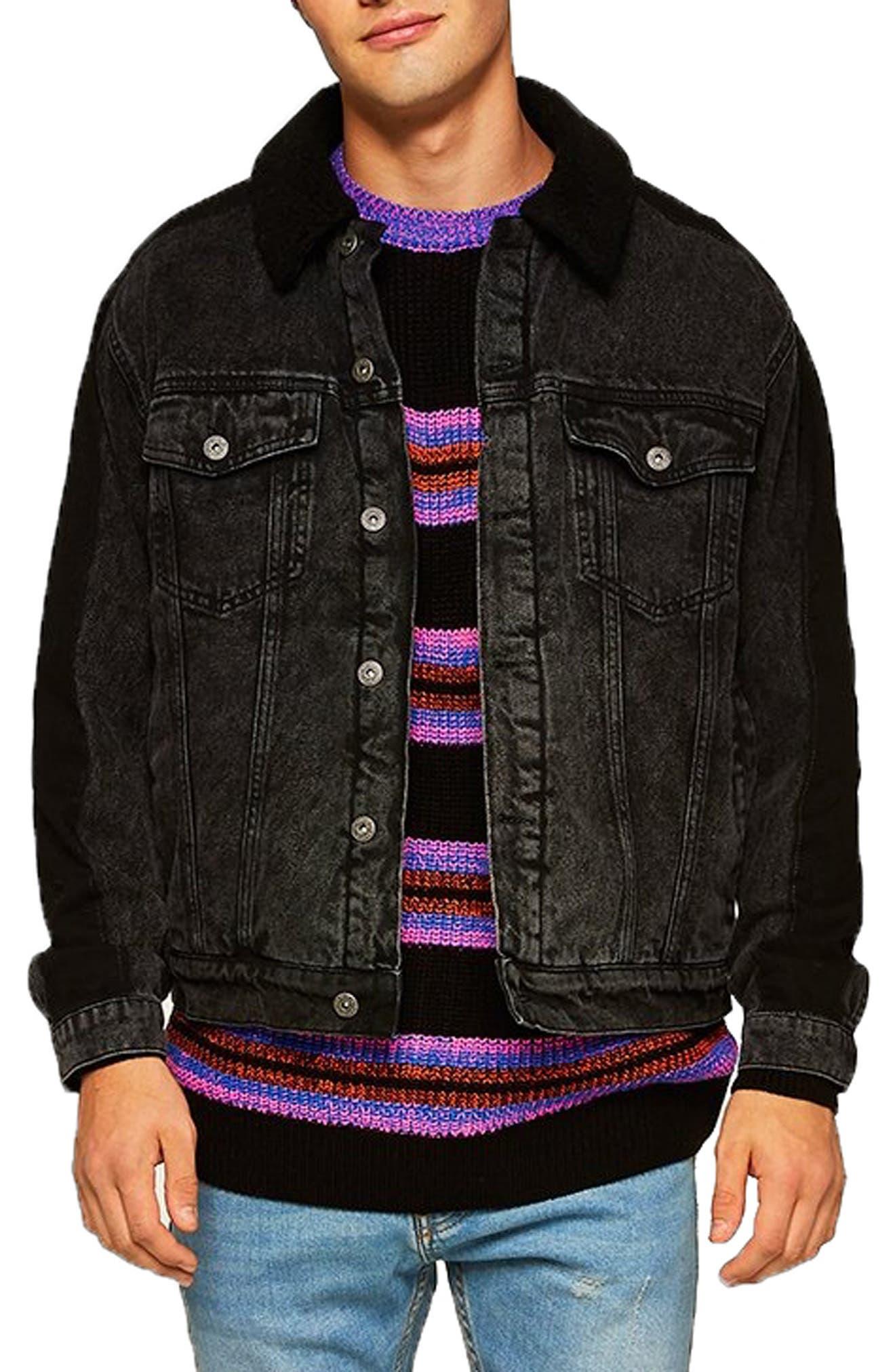 '90s Stripe Classic Fit Sweater,                         Main,                         color, BLACK MULTI