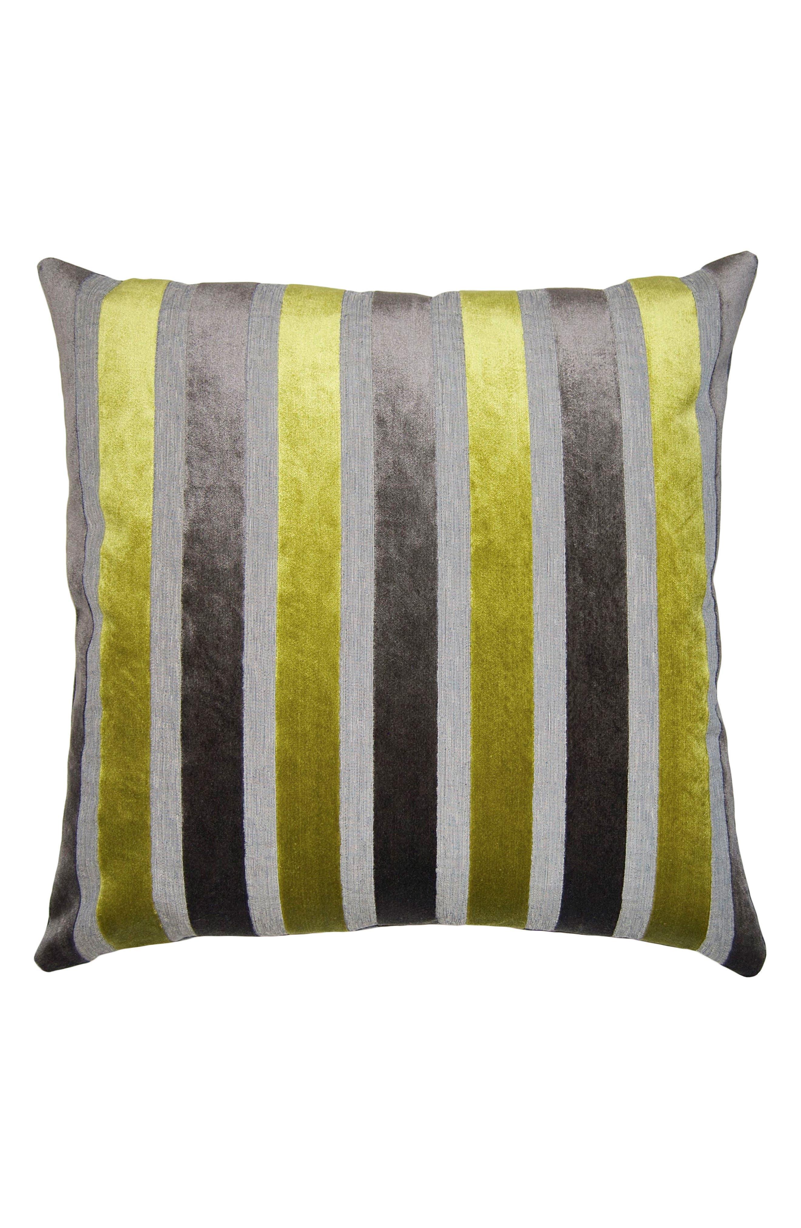 Stripe Accent Pillow,                             Main thumbnail 1, color,                             GREY MULTI