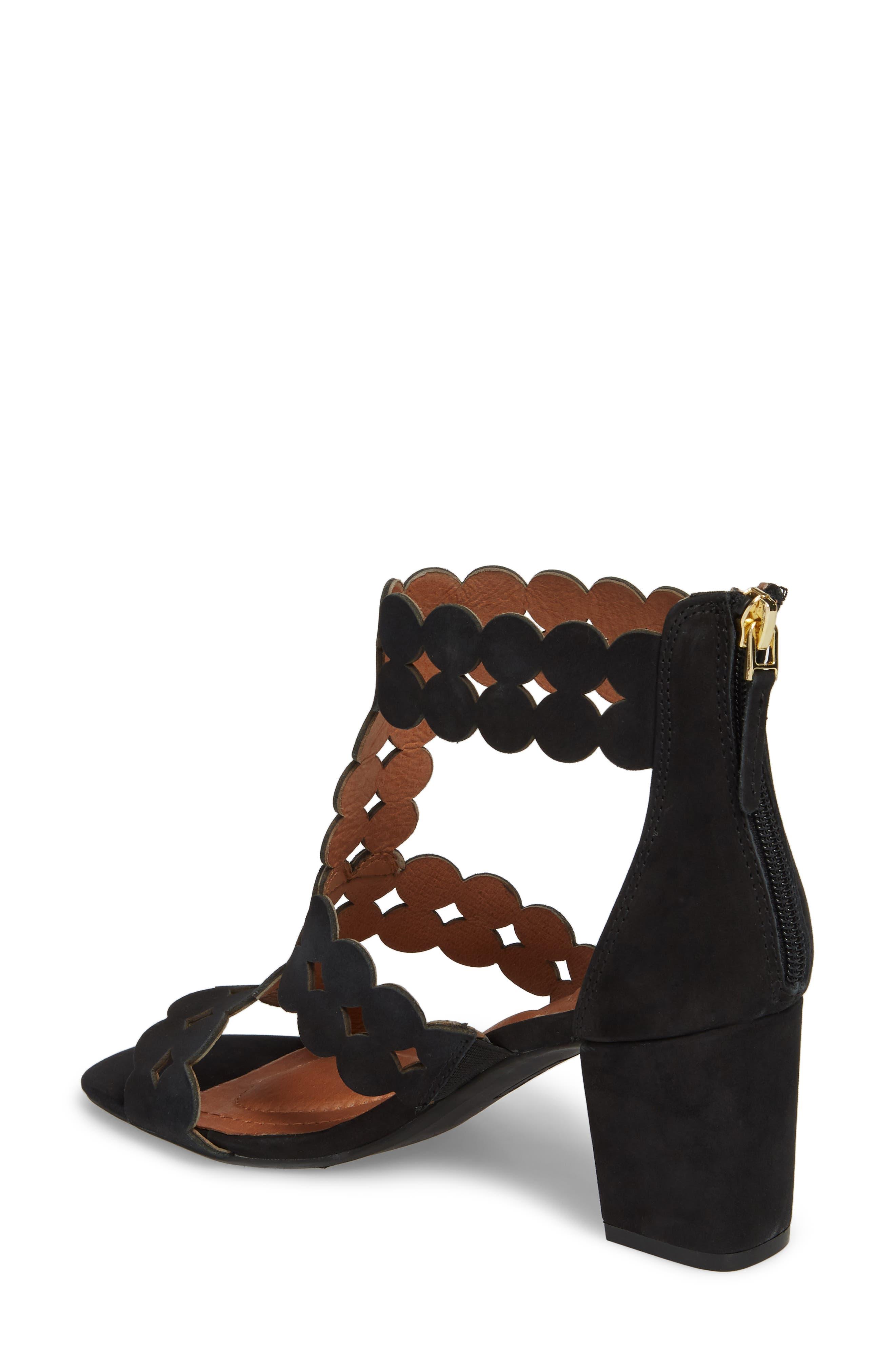 SUDINI,                             Novara Block Heel Sandal,                             Alternate thumbnail 2, color,                             BLACK NUBUCK LEATHER