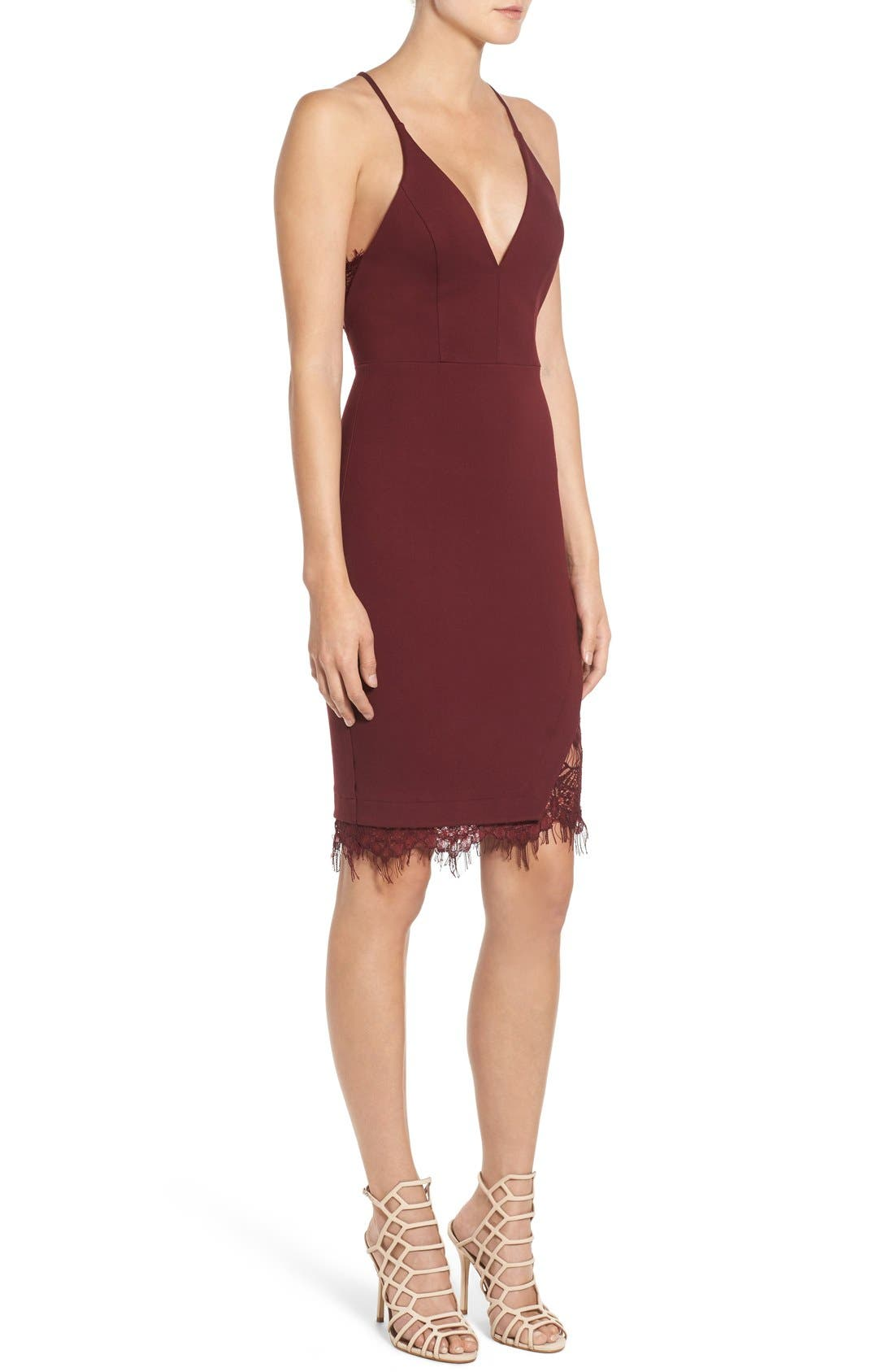 Lace Body-Con Dress,                             Alternate thumbnail 18, color,