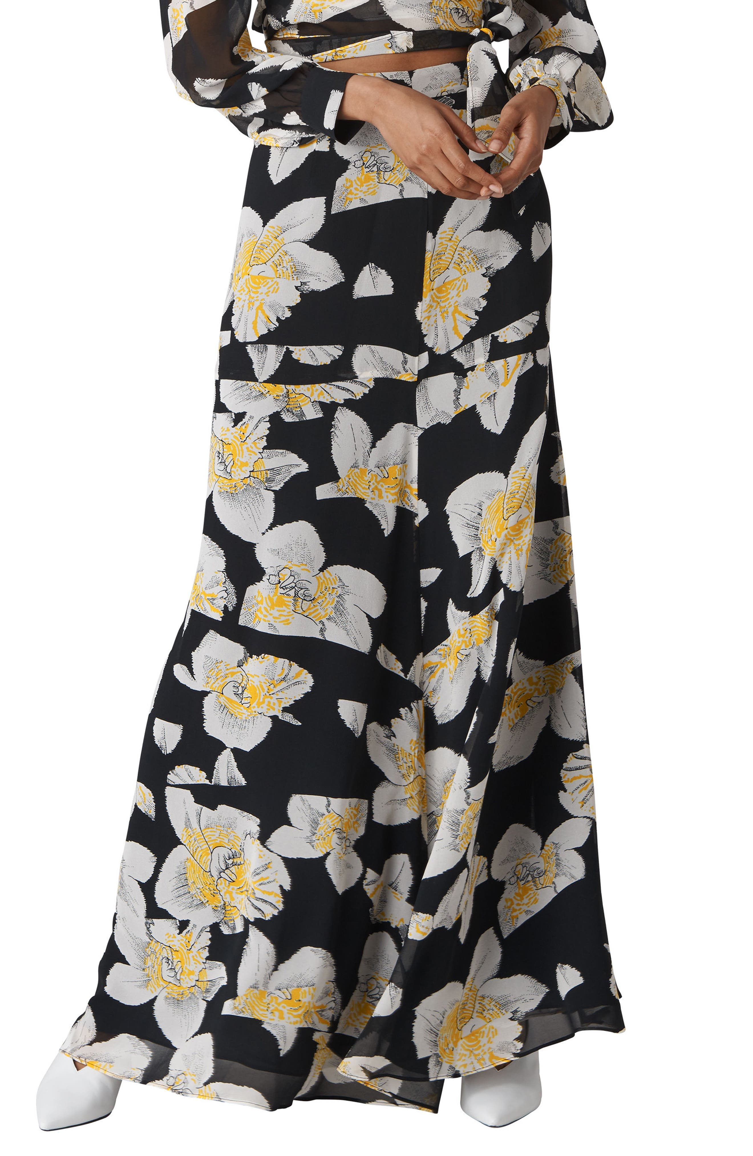 Rika Floral Silk Maxi Skirt,                             Main thumbnail 1, color,                             MULTICOLOR
