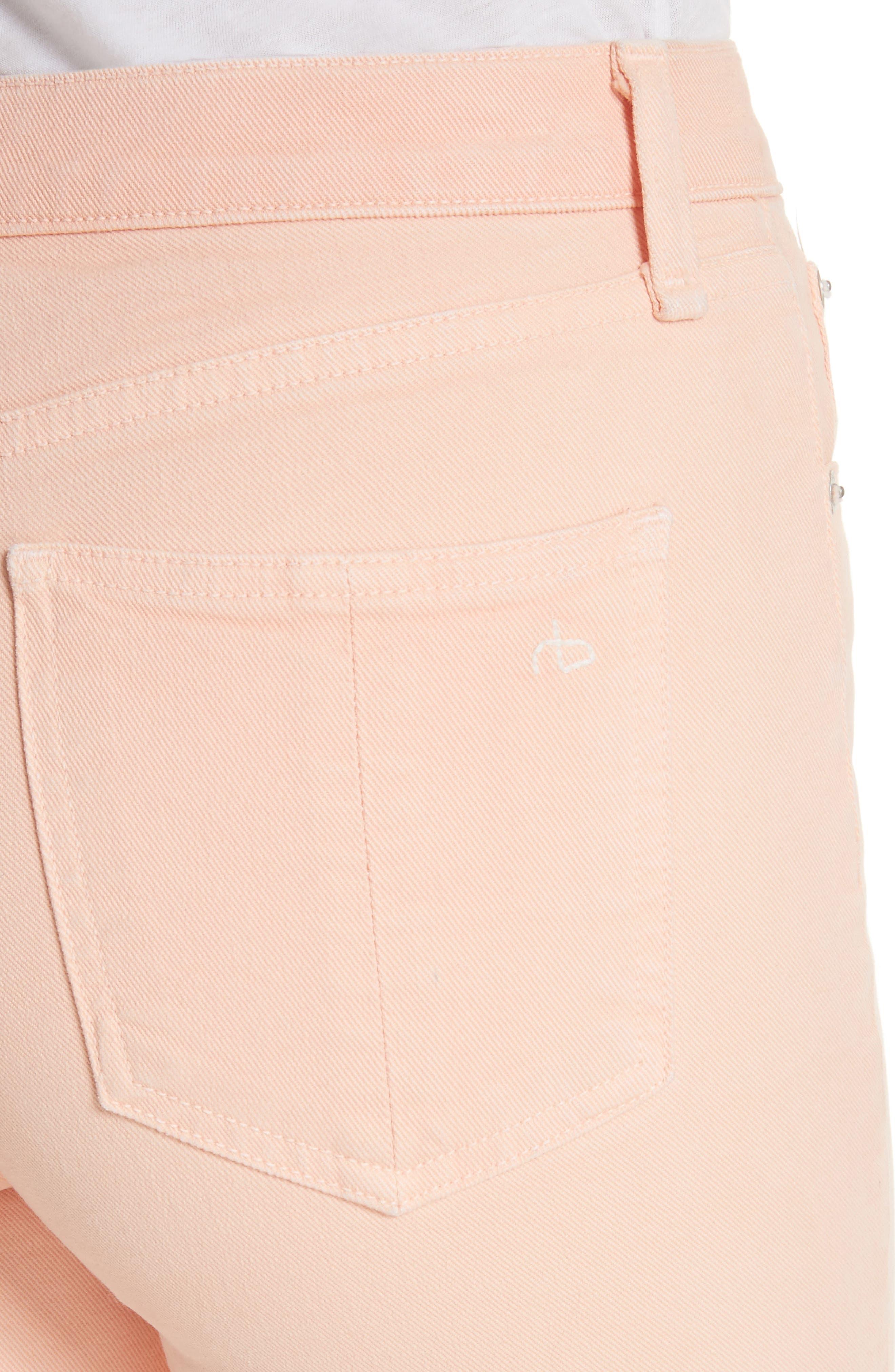 High Waist Ankle Skinny Jeans,                             Alternate thumbnail 4, color,
