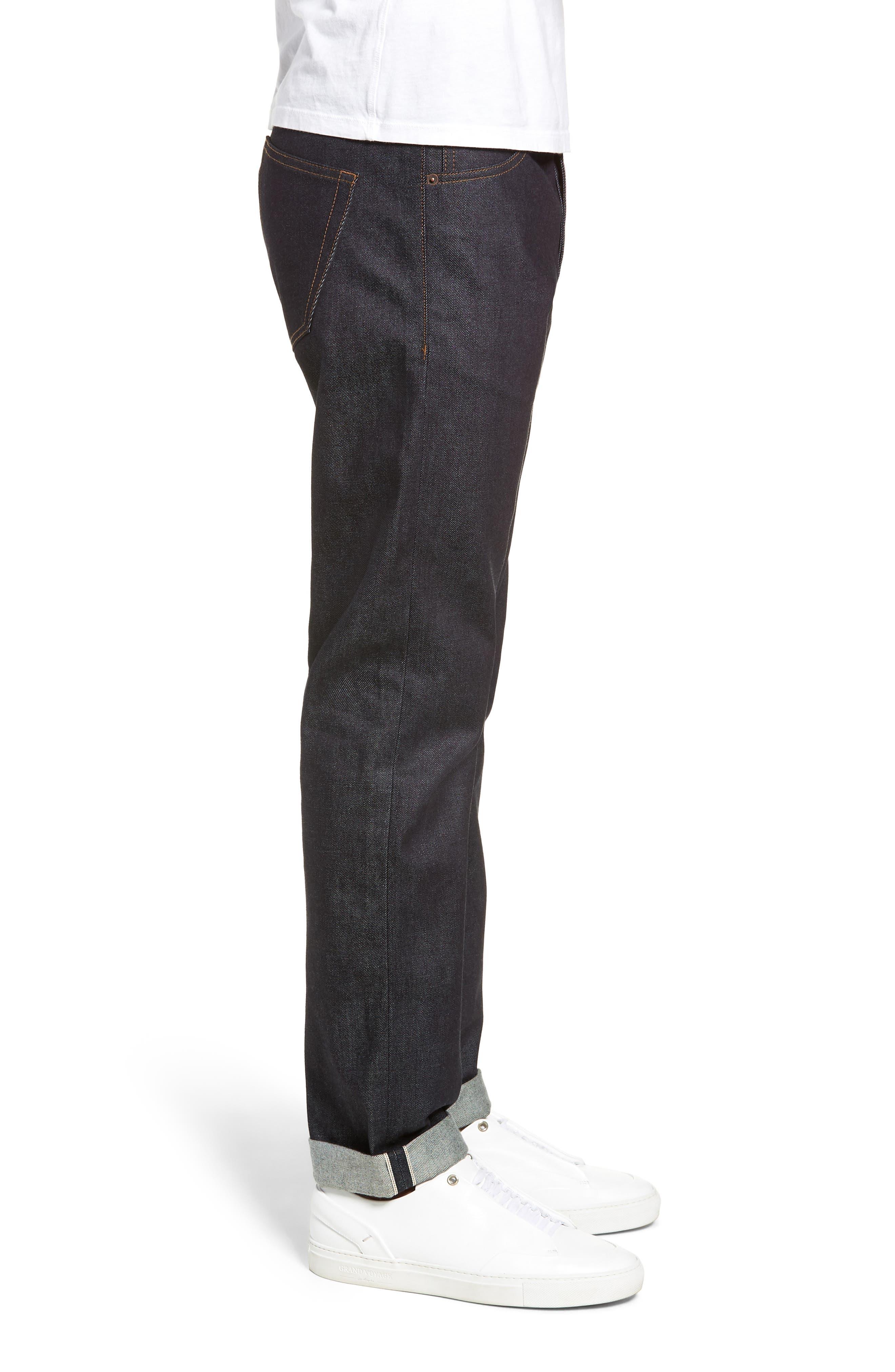 Dr. Denim Jeansmaker Gus Slim Straight Leg Raw Selvedge Jeans,                             Alternate thumbnail 3, color,                             RAW SELVAGE