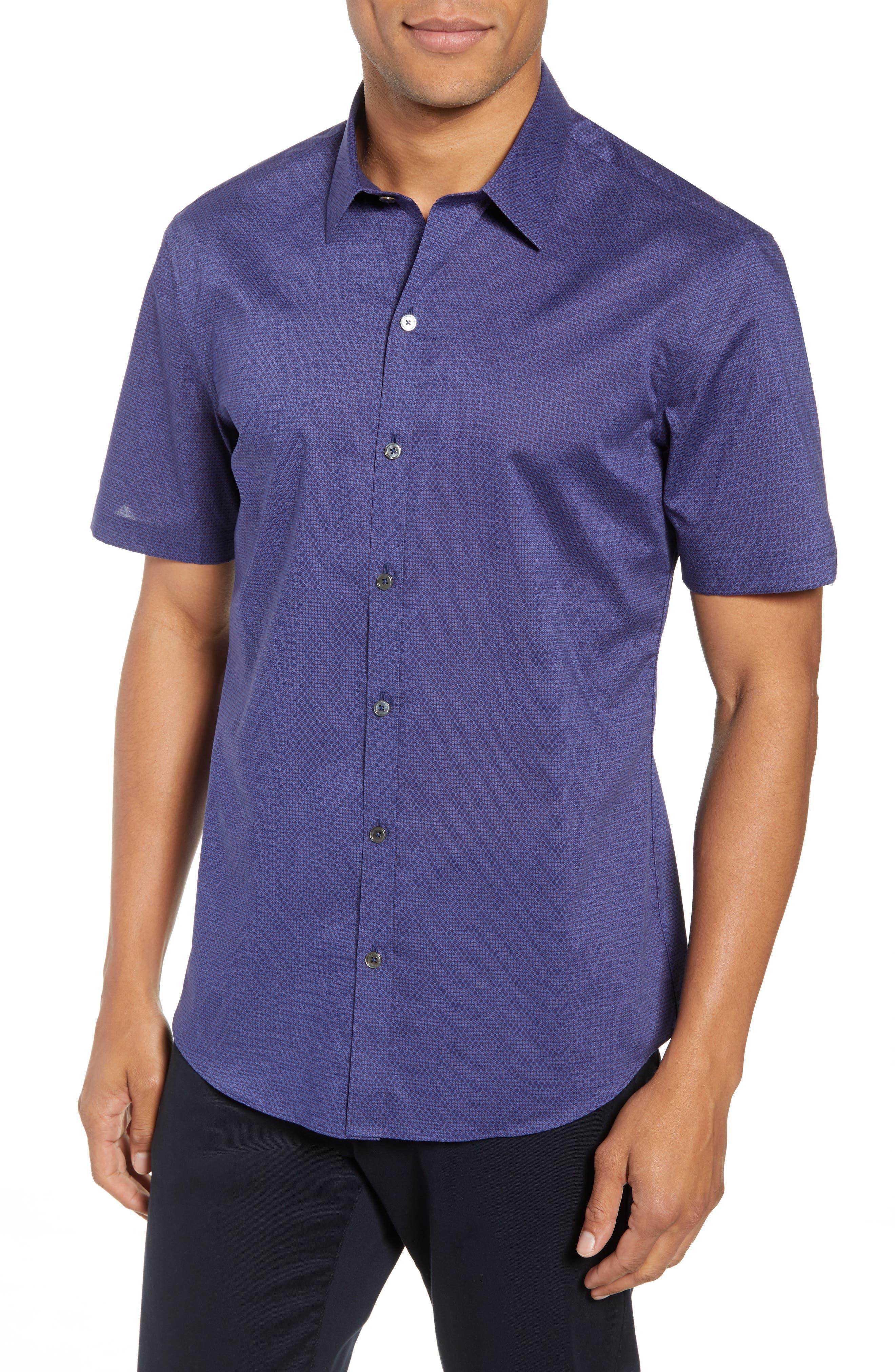 Avellan Regular Fit Sport Shirt,                         Main,                         color, BLUE
