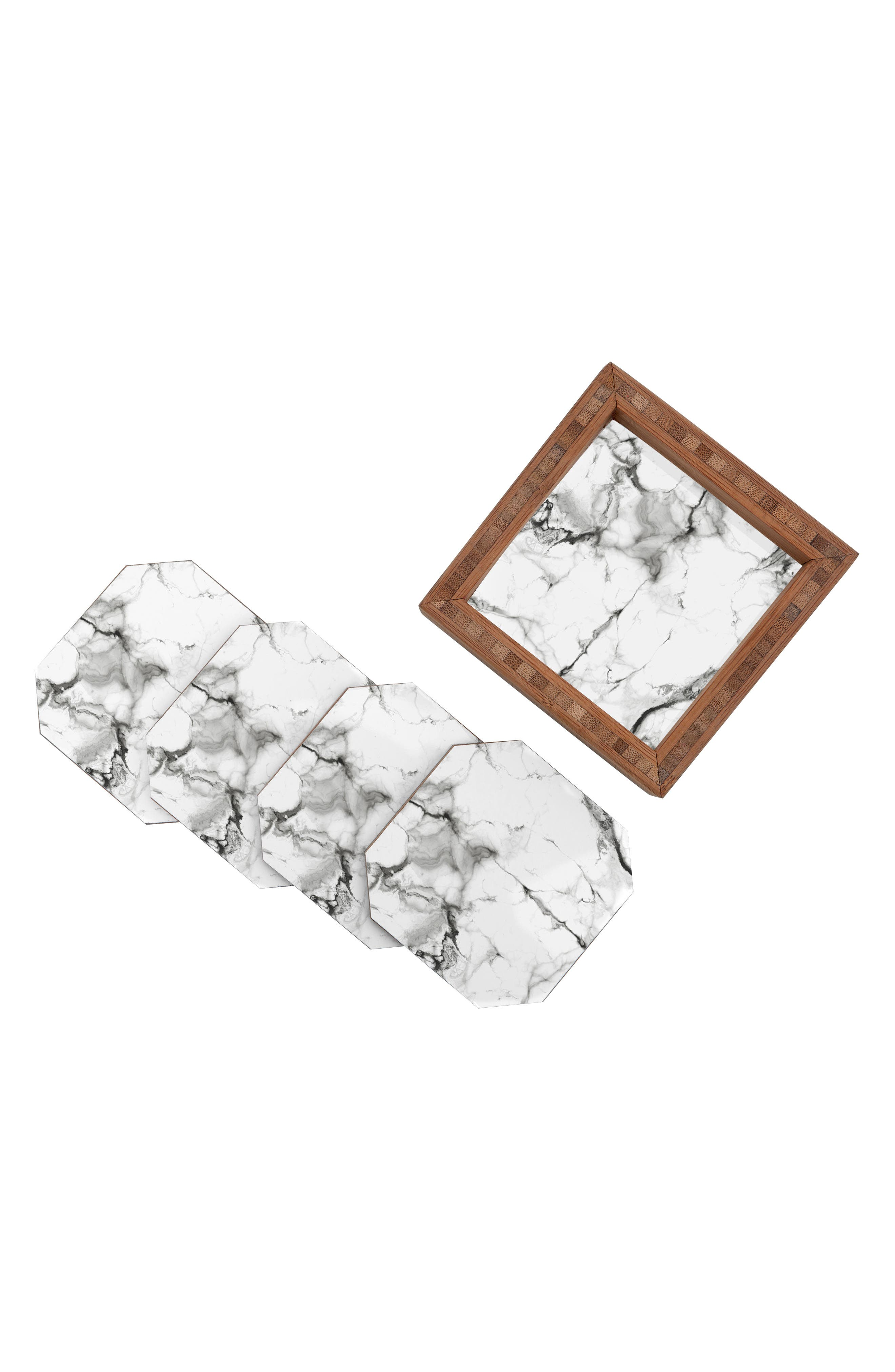 Marble Set of 4 Coasters,                             Alternate thumbnail 2, color,                             100