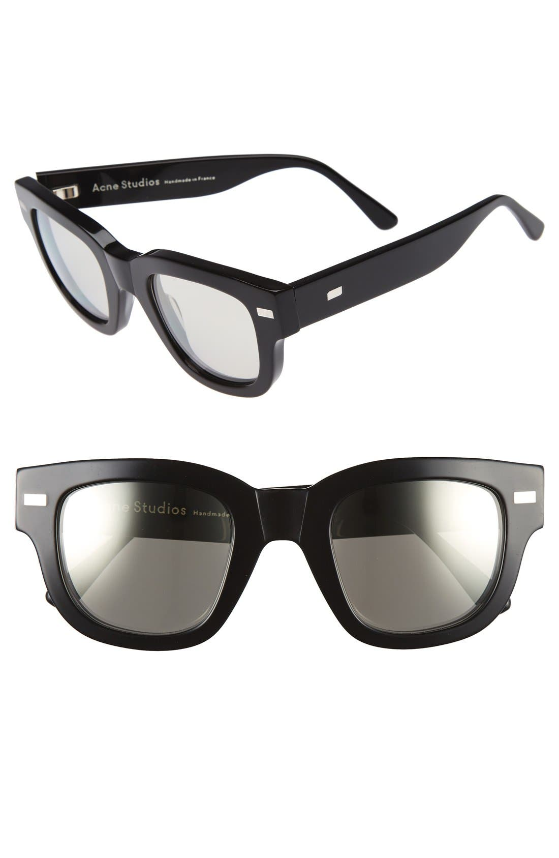 Frame 48mm Sunglasses,                         Main,                         color, BLACK