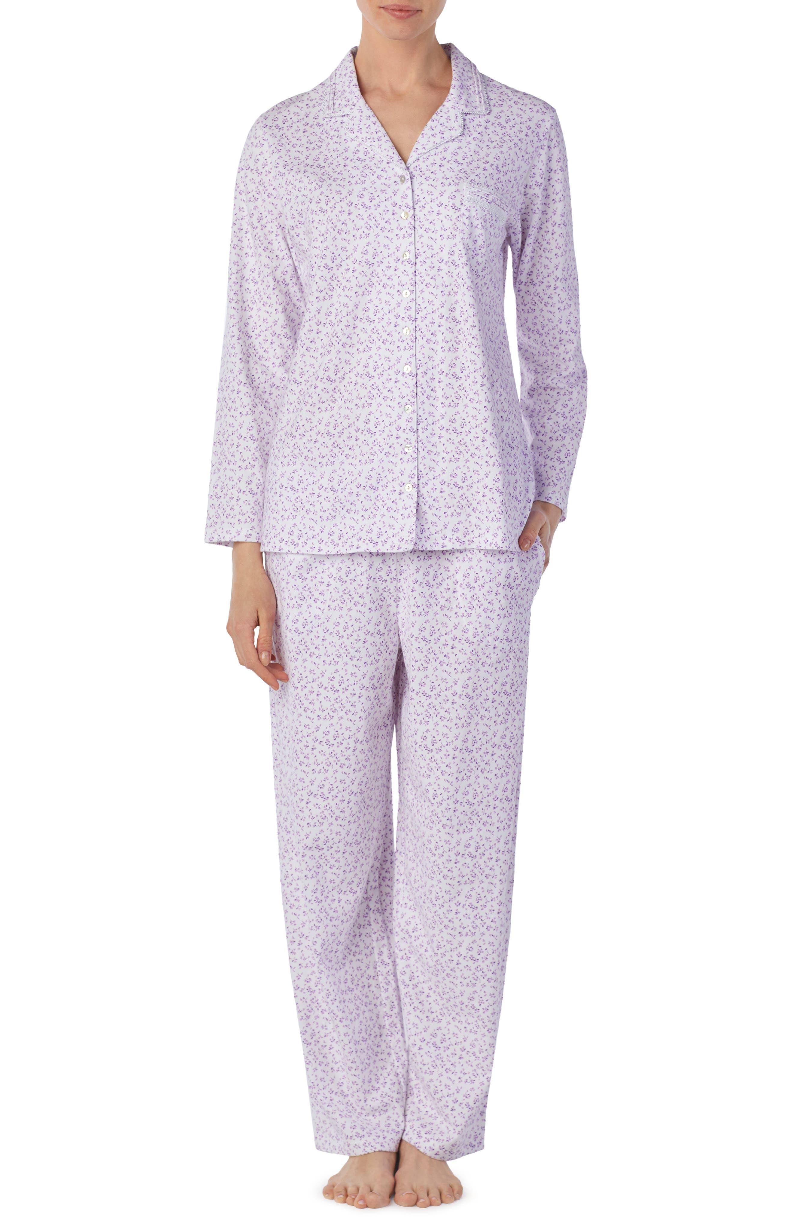 Eileen West Knit Pajamas, Purple