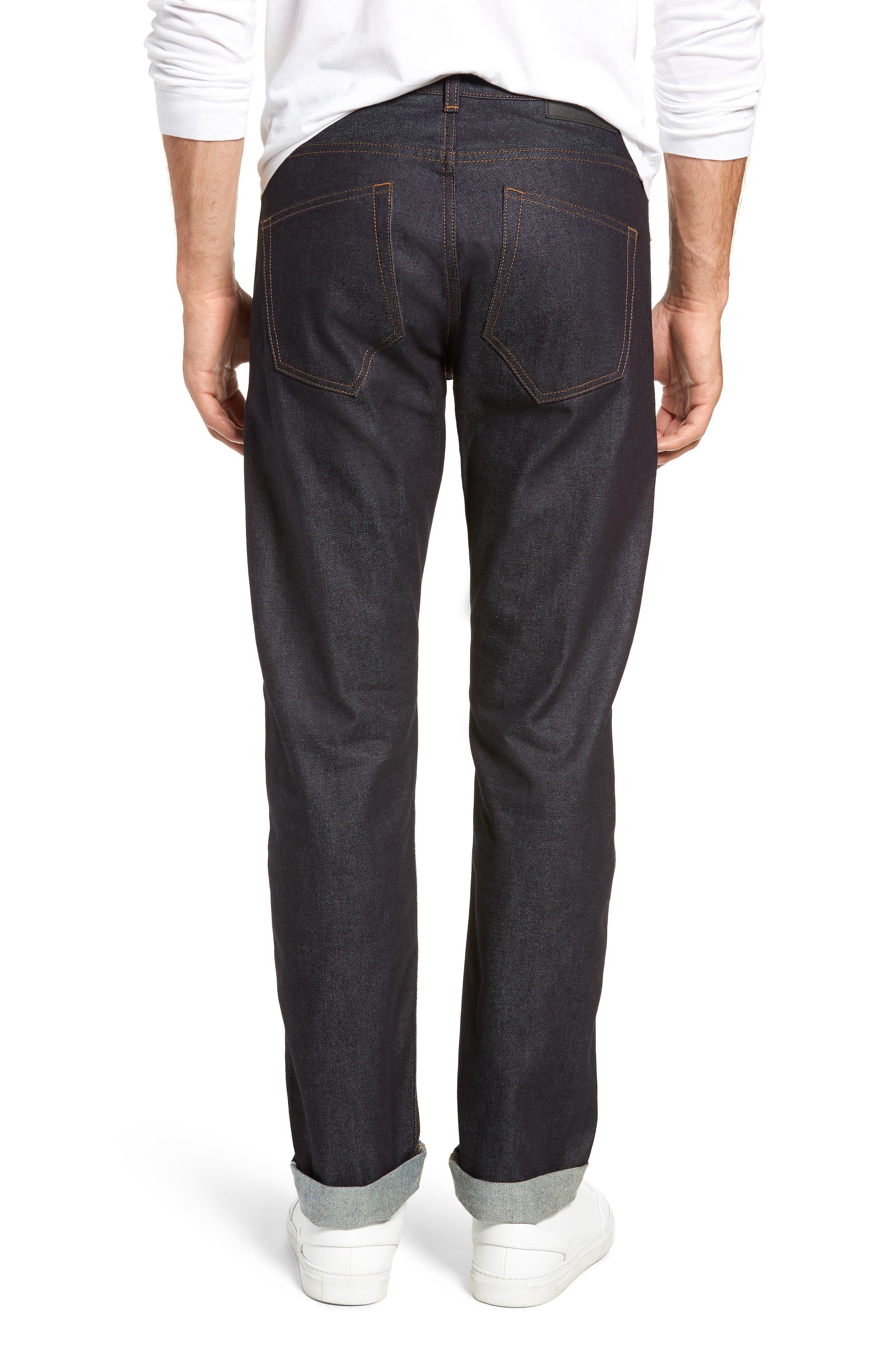 Dr. Denim Jeansmaker Gus Slim Straight Leg Raw Selvedge Jeans,                             Alternate thumbnail 2, color,                             RAW SELVAGE