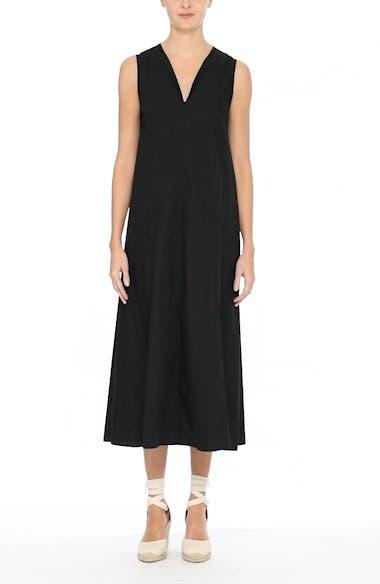 Sleeveless Poplin Shift Dress, video thumbnail