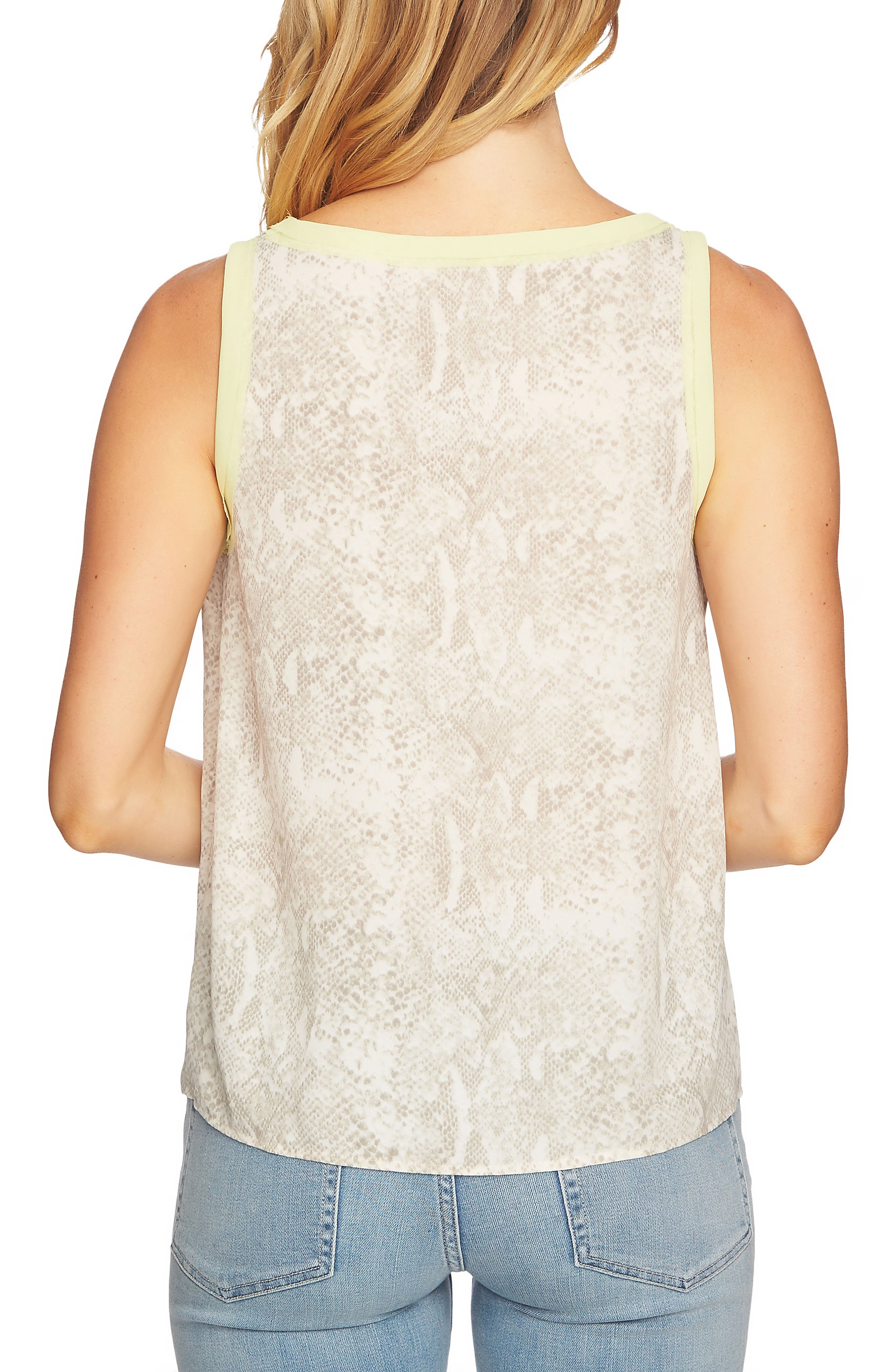 Chiffon Patterned Tank Top,                             Alternate thumbnail 2, color,