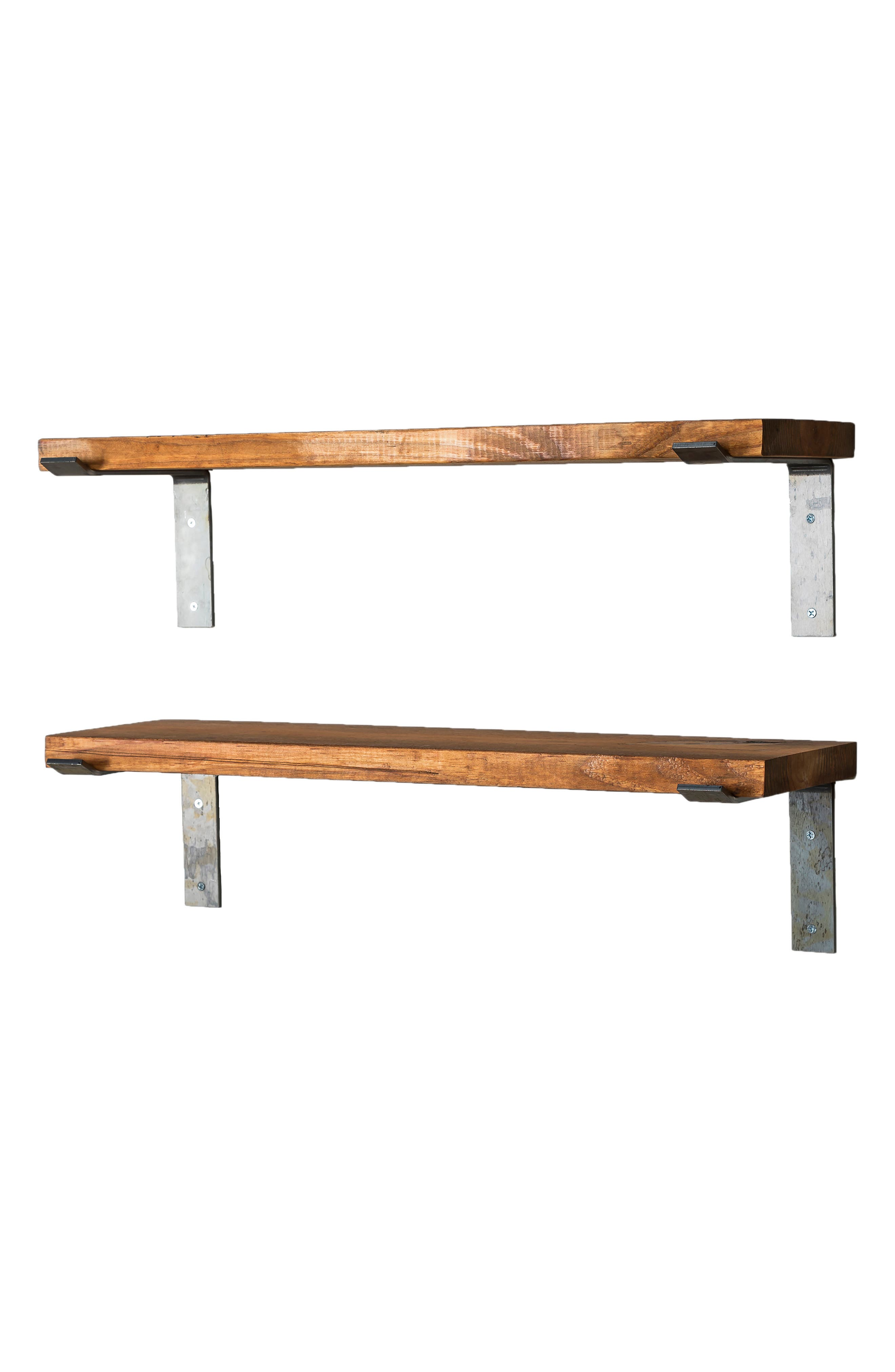 Set of 2 Industrial Bracket Shelves,                             Alternate thumbnail 2, color,                             200