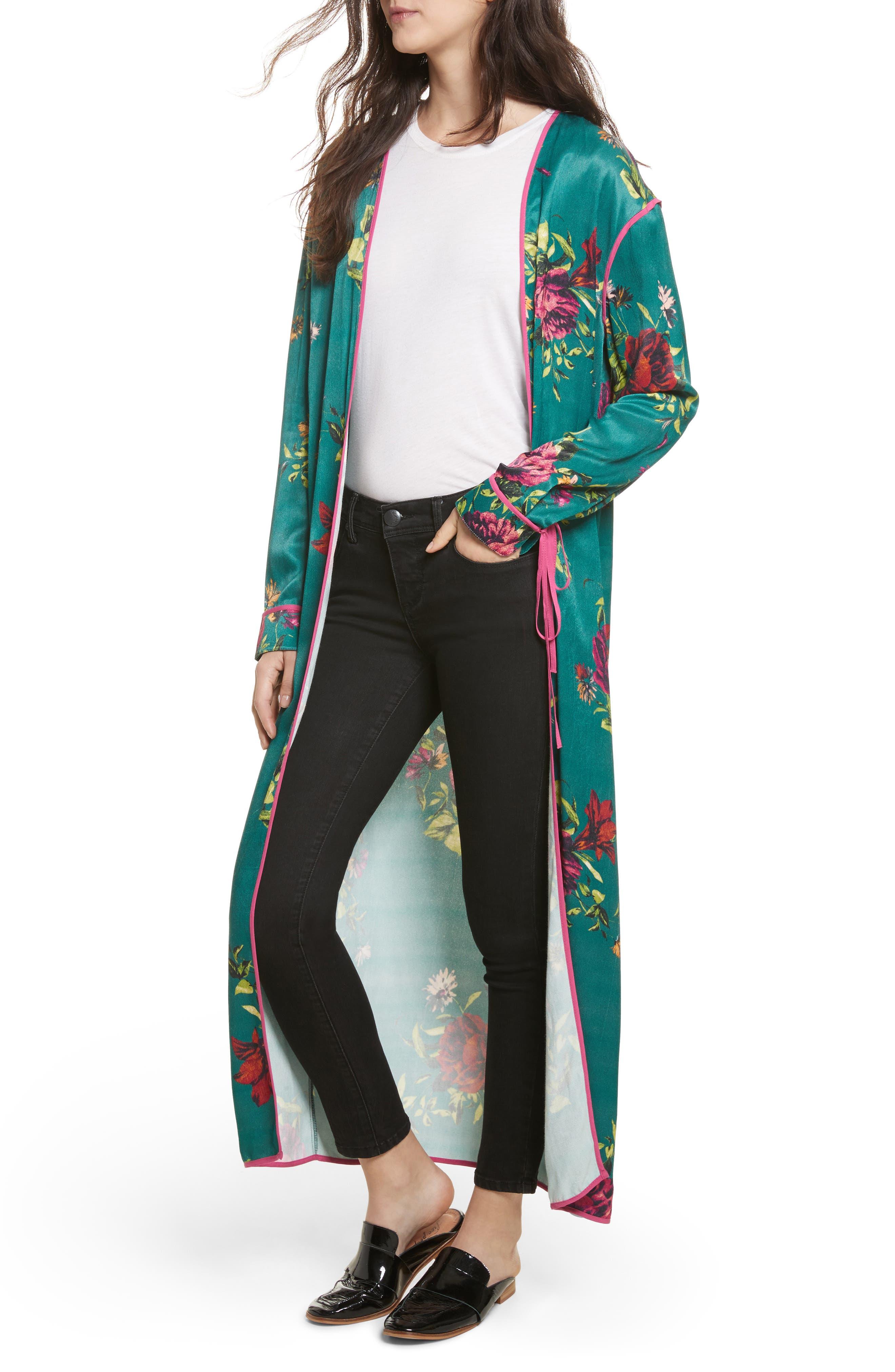 Kimono Duster,                             Alternate thumbnail 4, color,
