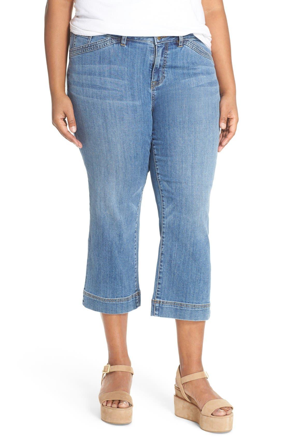 Wide Leg Crop Jeans,                             Main thumbnail 2, color,
