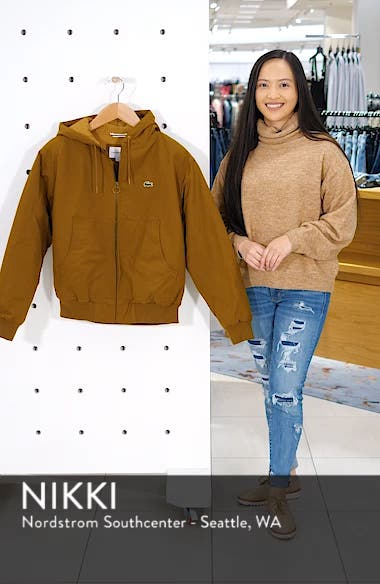 Regular Fit Hooded Twill Jacket, sales video thumbnail