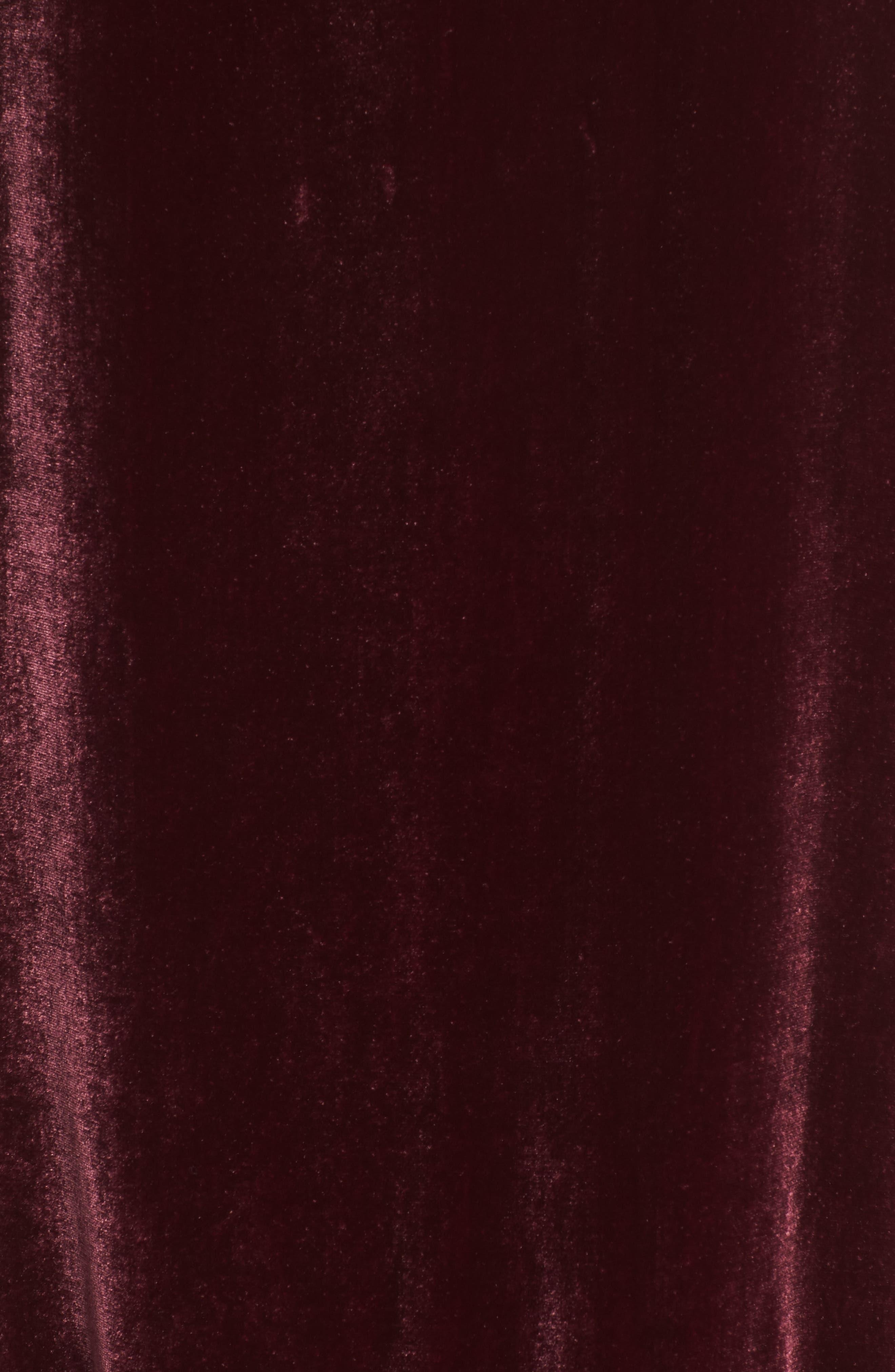 Audrina Velvet Slipdress,                             Alternate thumbnail 6, color,                             ROUGE
